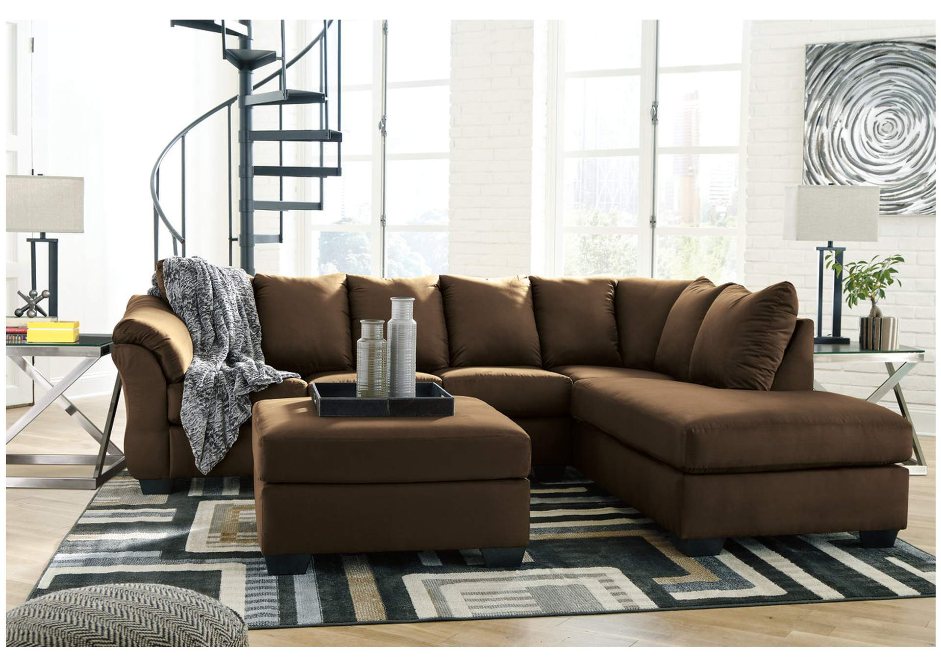 Darcy Cafe RAF Chaise Sectional,Signature Design By Ashley