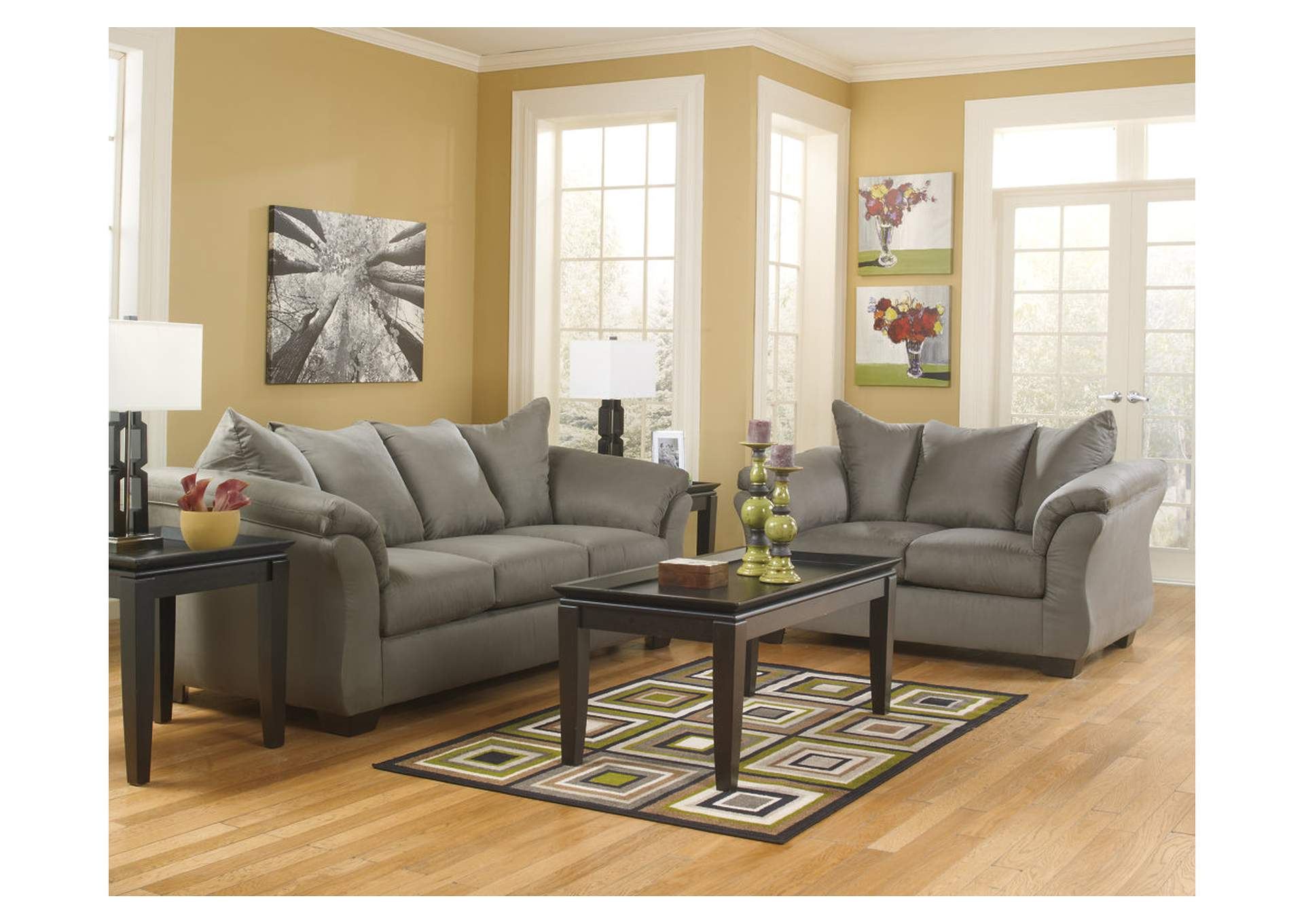 Darcy Cobblestone Sofa  & Loveseat,Signature Design By Ashley