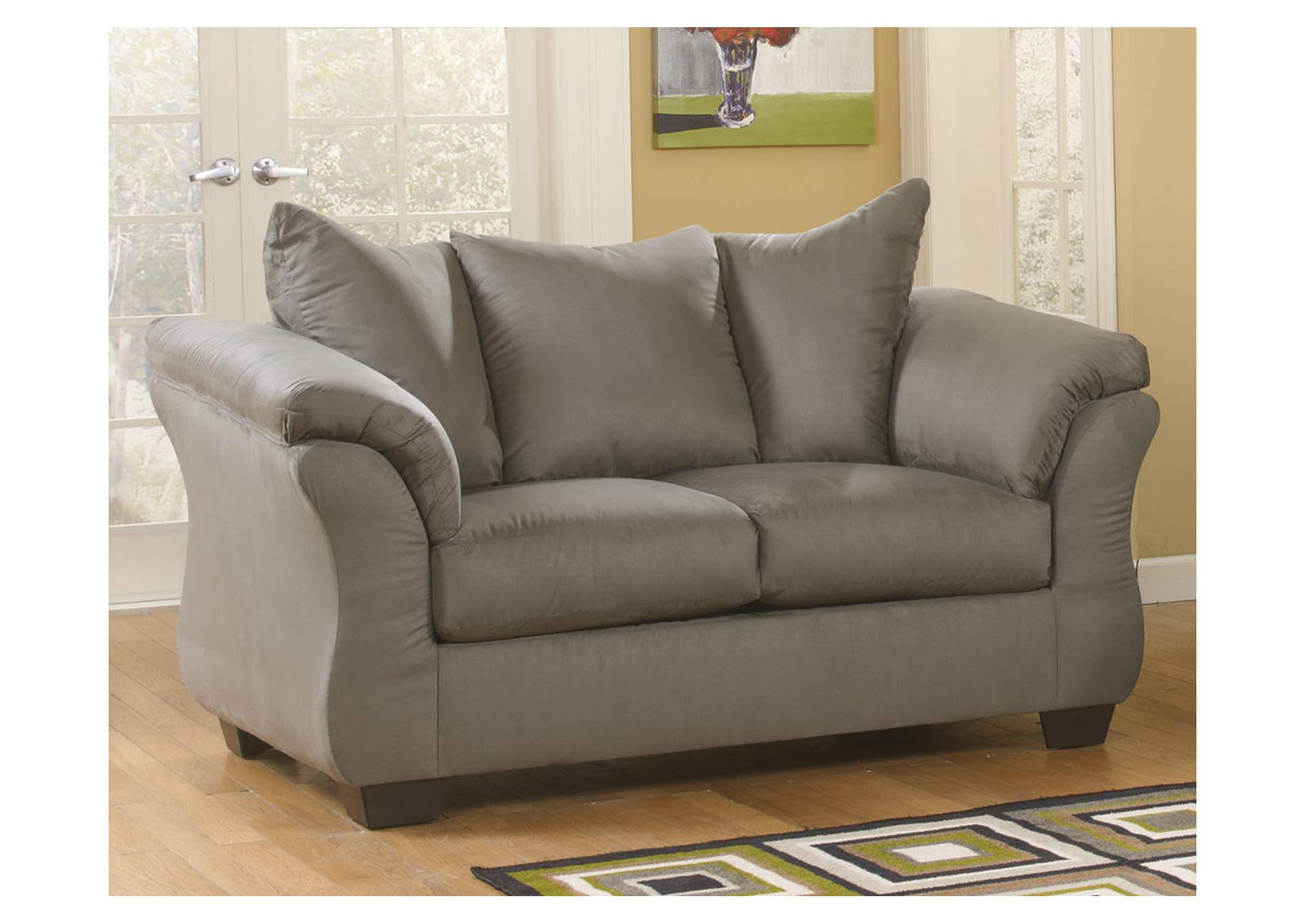 Darcy Cobblestone Loveseat,Signature Design By Ashley