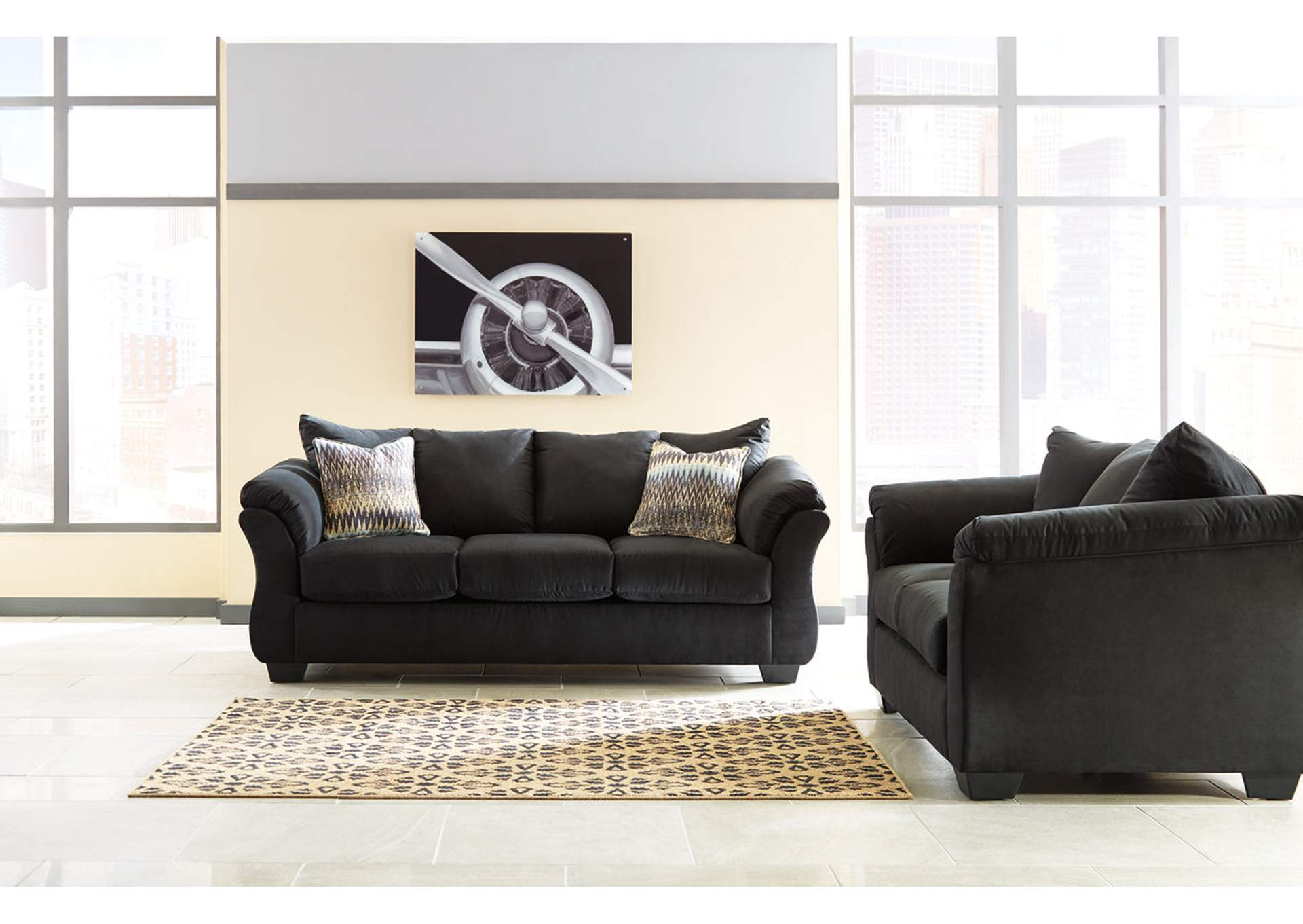 Darcy Black Sofa and Loveseat,Signature Design By Ashley