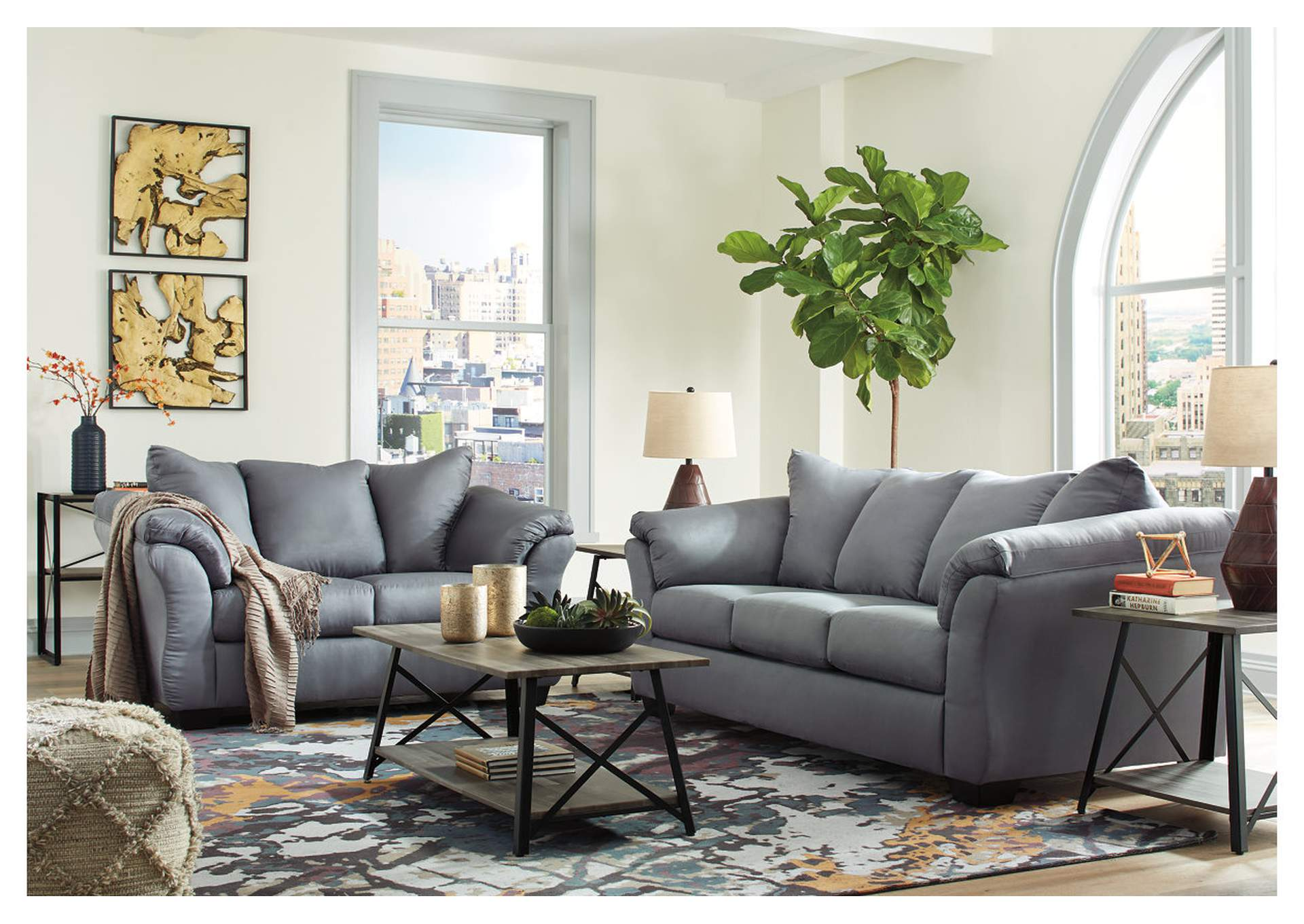 Darcy Steel Sofa & Loveseat,Signature Design By Ashley