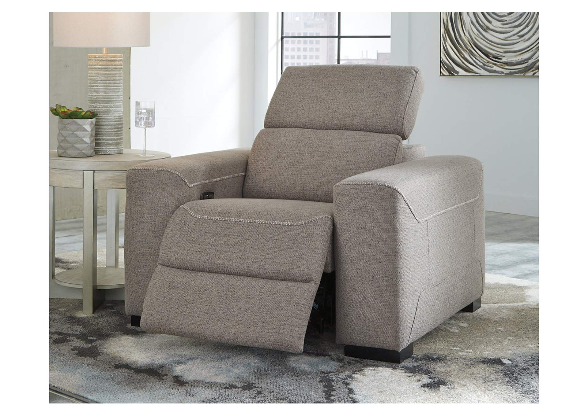 Mabton Gray Power Recliner,Signature Design By Ashley