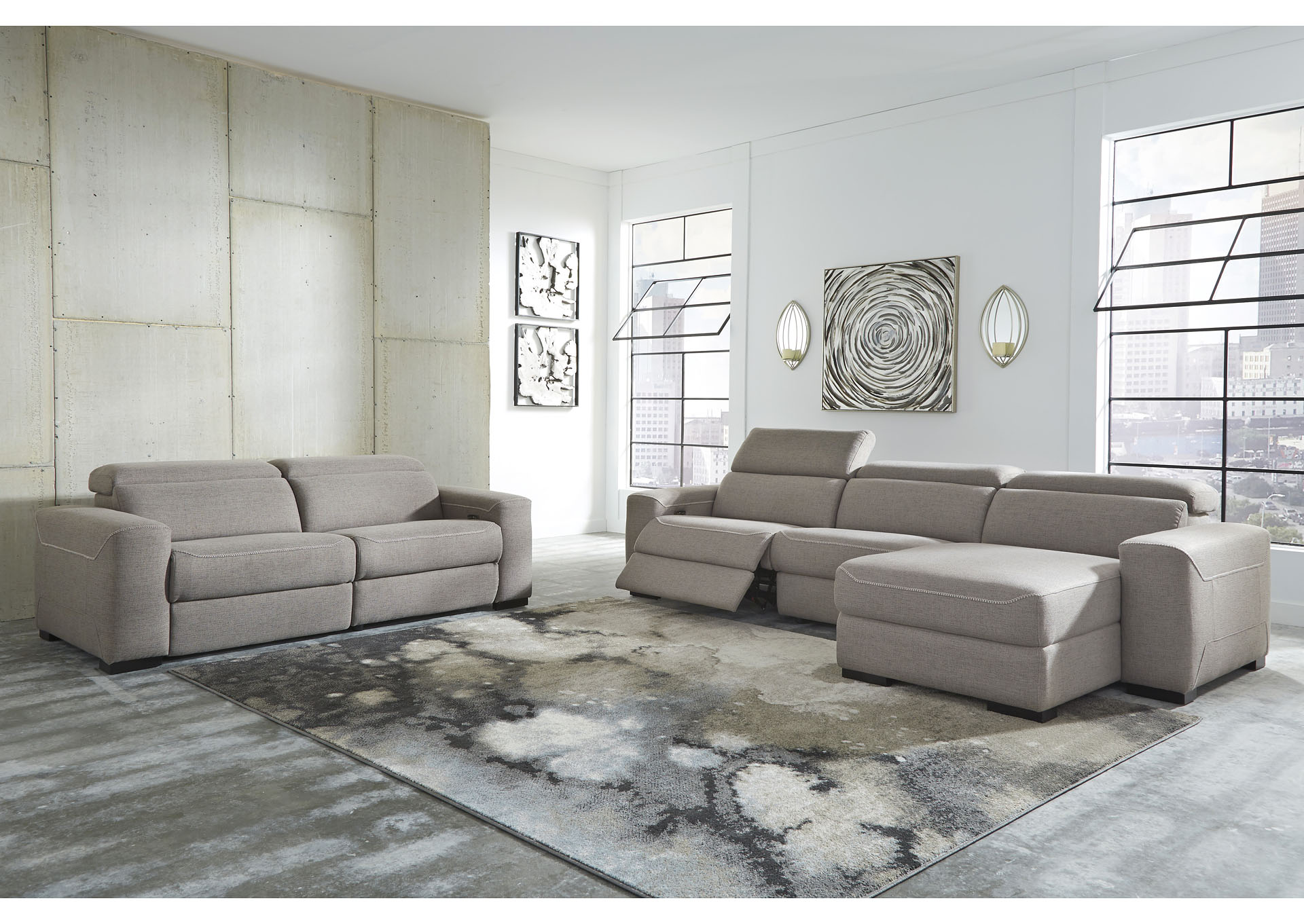 Mabton Gray 2 Piece Sectional,Signature Design By Ashley