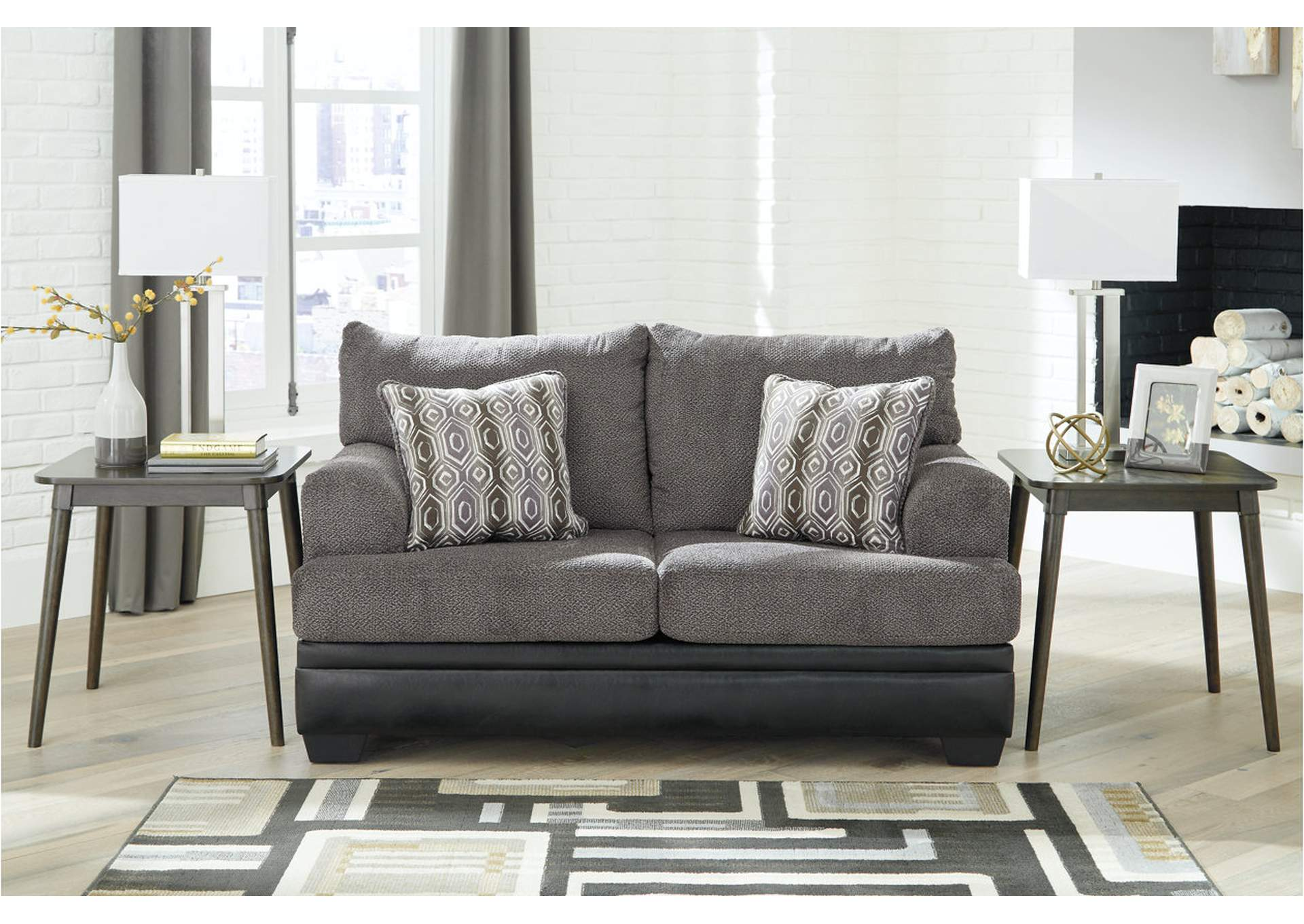 Millingar Smoke Loveseat,Signature Design By Ashley