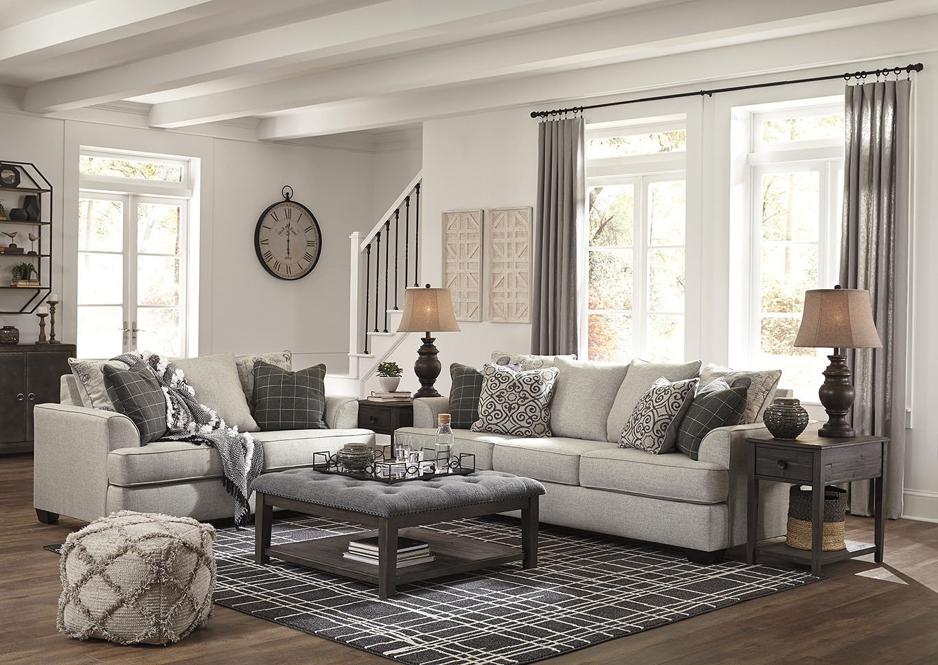 Velletri Pewter Sofa & Loveseat,Signature Design By Ashley
