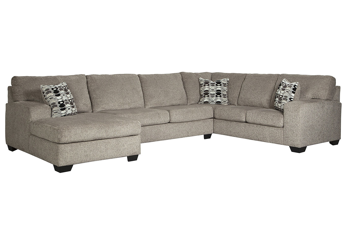 Ballinasloe Platinum LAF Chaise Sectional,Signature Design By Ashley