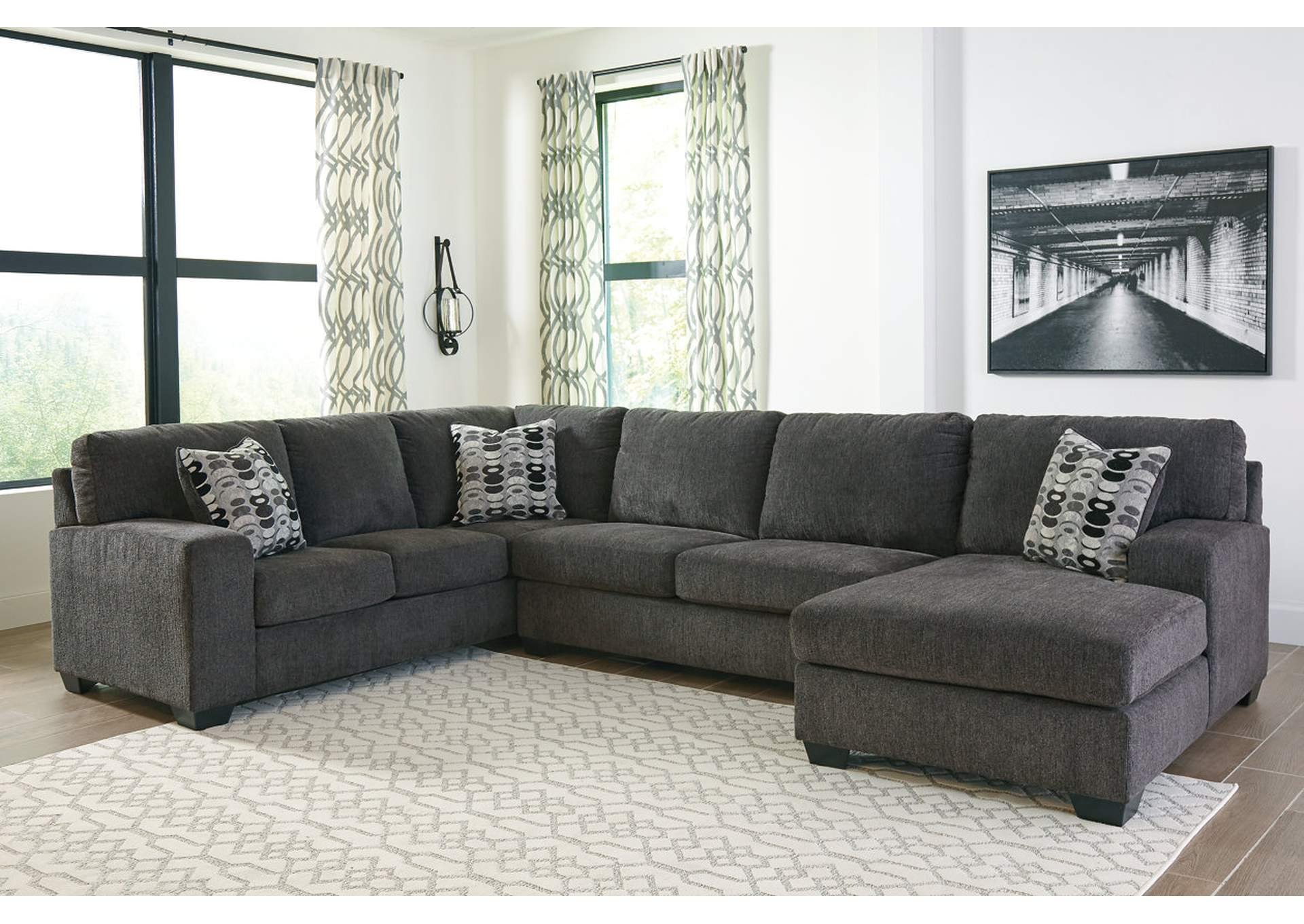 Ballinasloe Smoke RAF Chaise Sectional,Signature Design By Ashley
