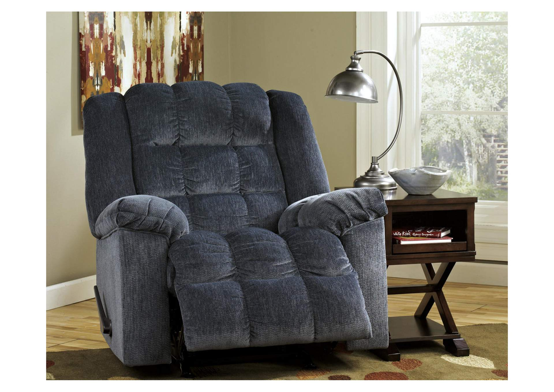 Ludden Blue Rocker Recliner,Signature Design By Ashley