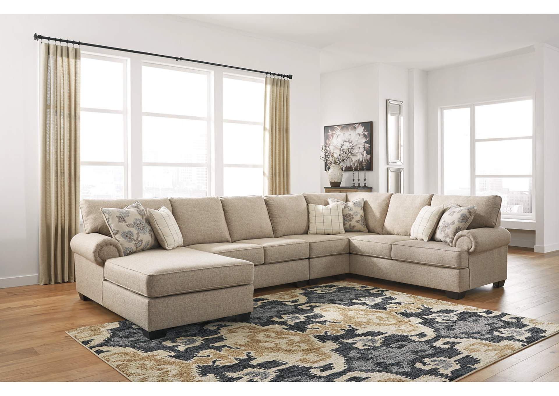 Baceno Hemp 4-Piece Sectional with Chaise,Ashley