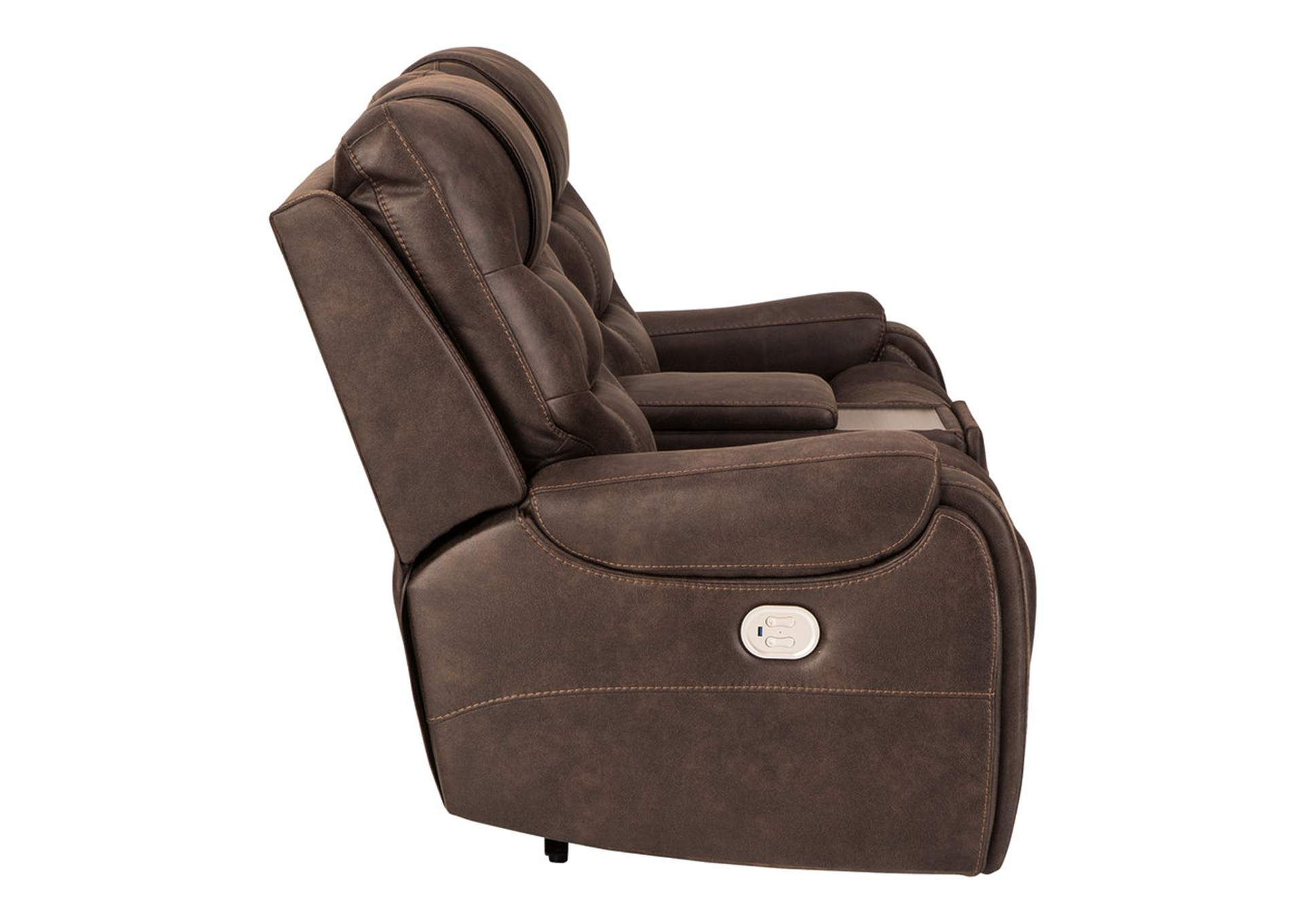 Yacolt Power Reclining Loveseat with Console,Signature Design By Ashley