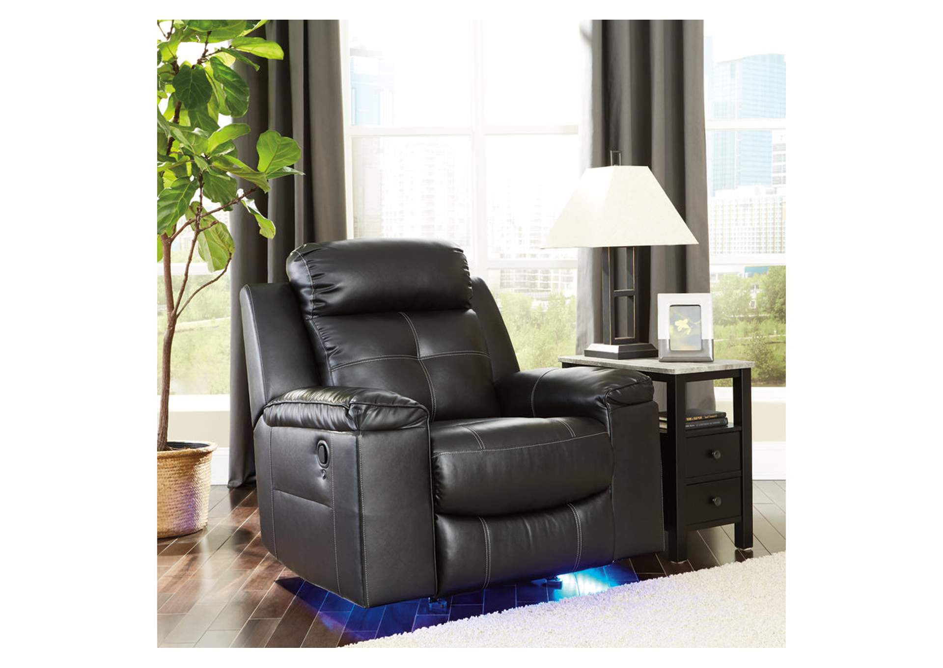 Kempten Black Rocker Recliner,Signature Design By Ashley