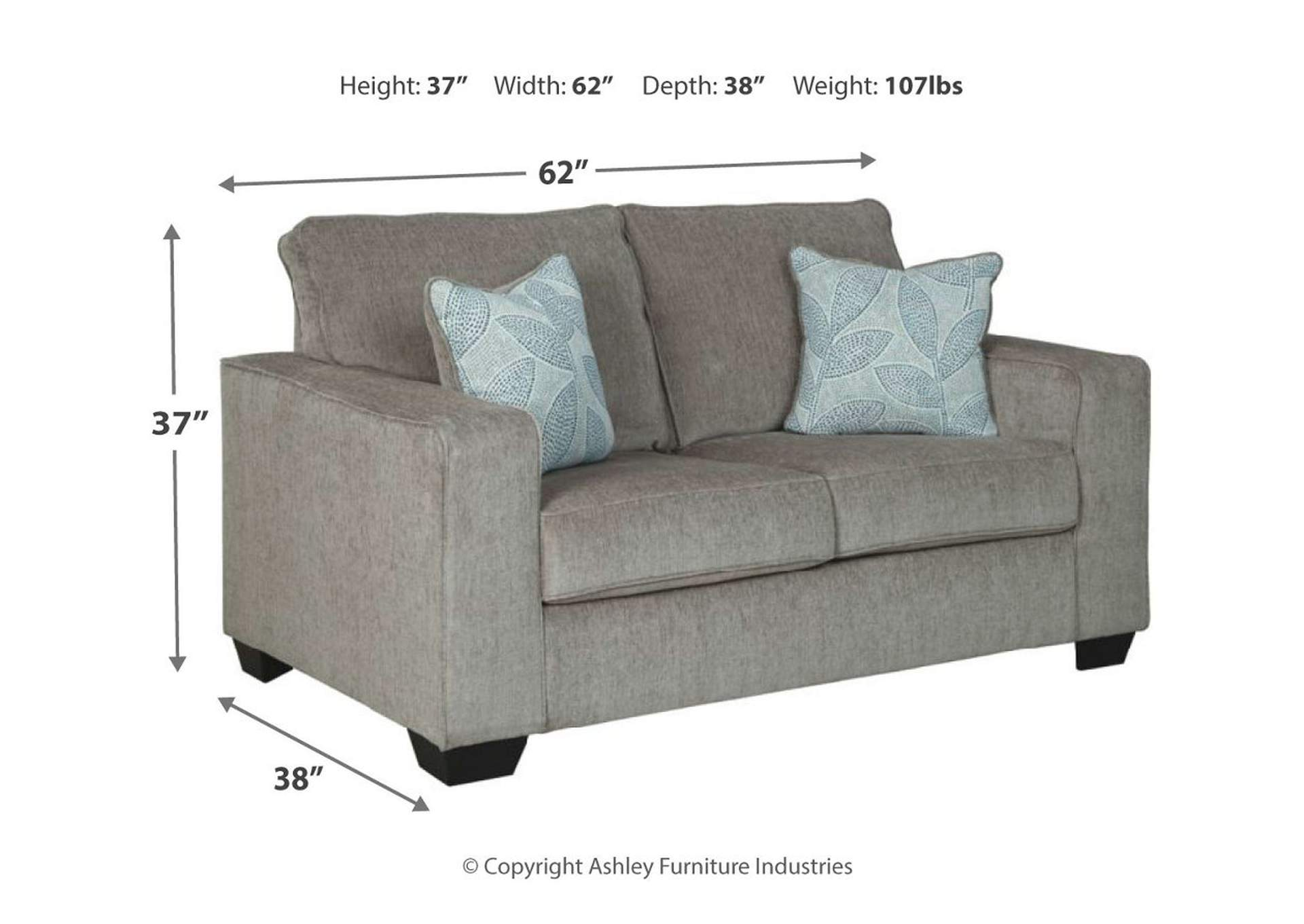 Altari Alloy Loveseat,Signature Design By Ashley