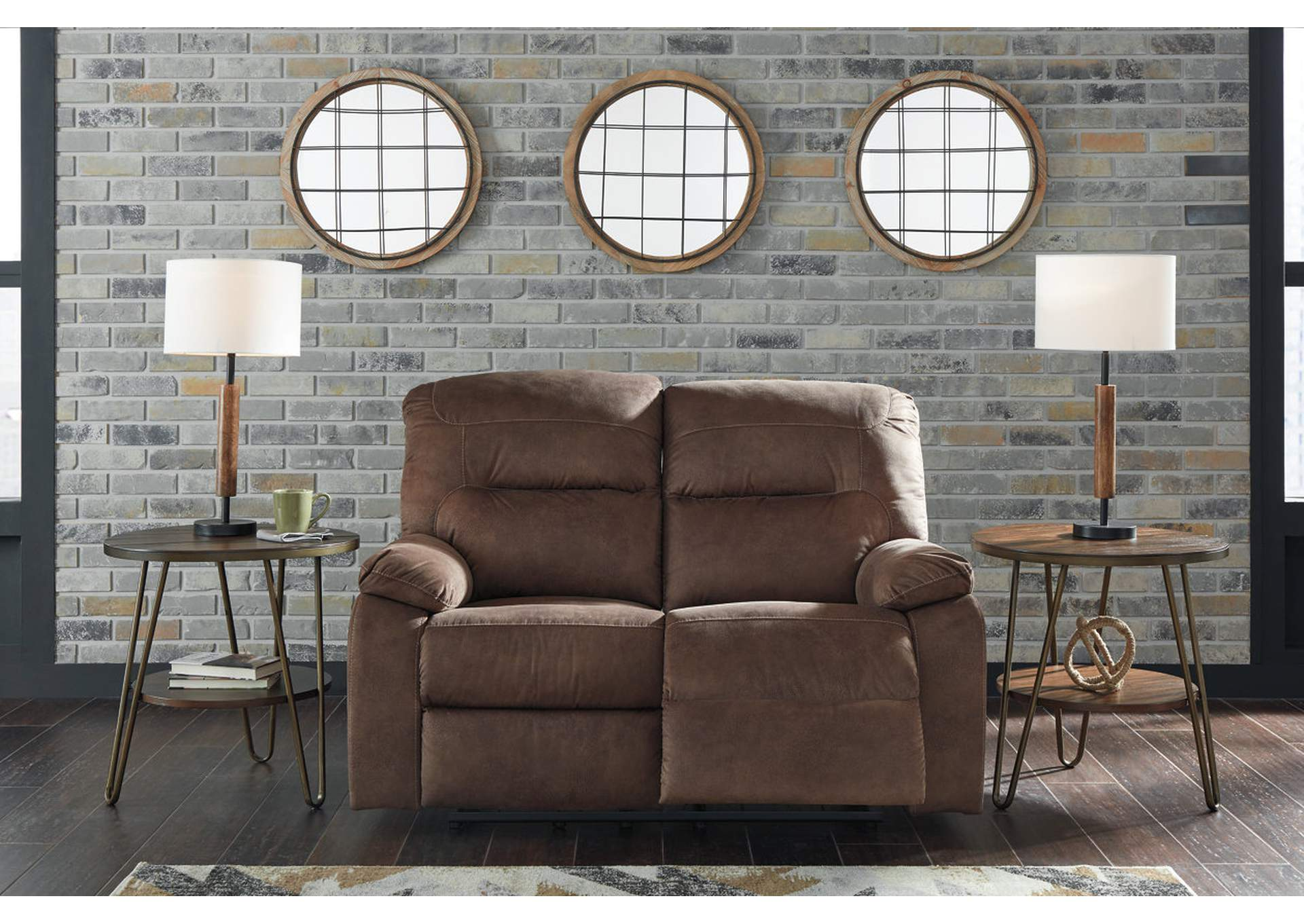 Bolzano Coffee Reclining Loveseat,Signature Design By Ashley