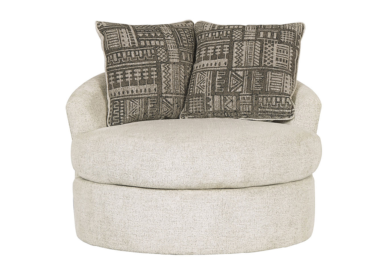 Soletren Stone Swivel Accent Chair w/2 Pillows,Signature Design By Ashley