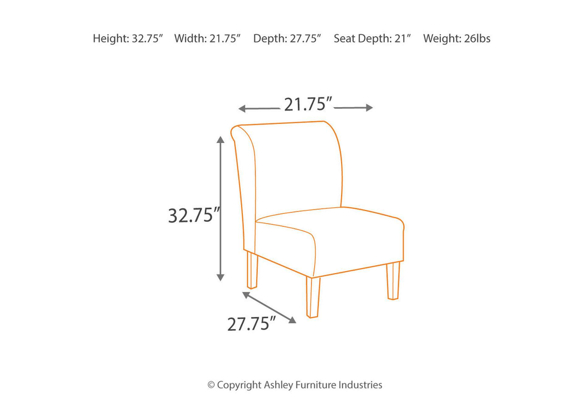 Tibbee Slate Accent Chair,Signature Design By Ashley
