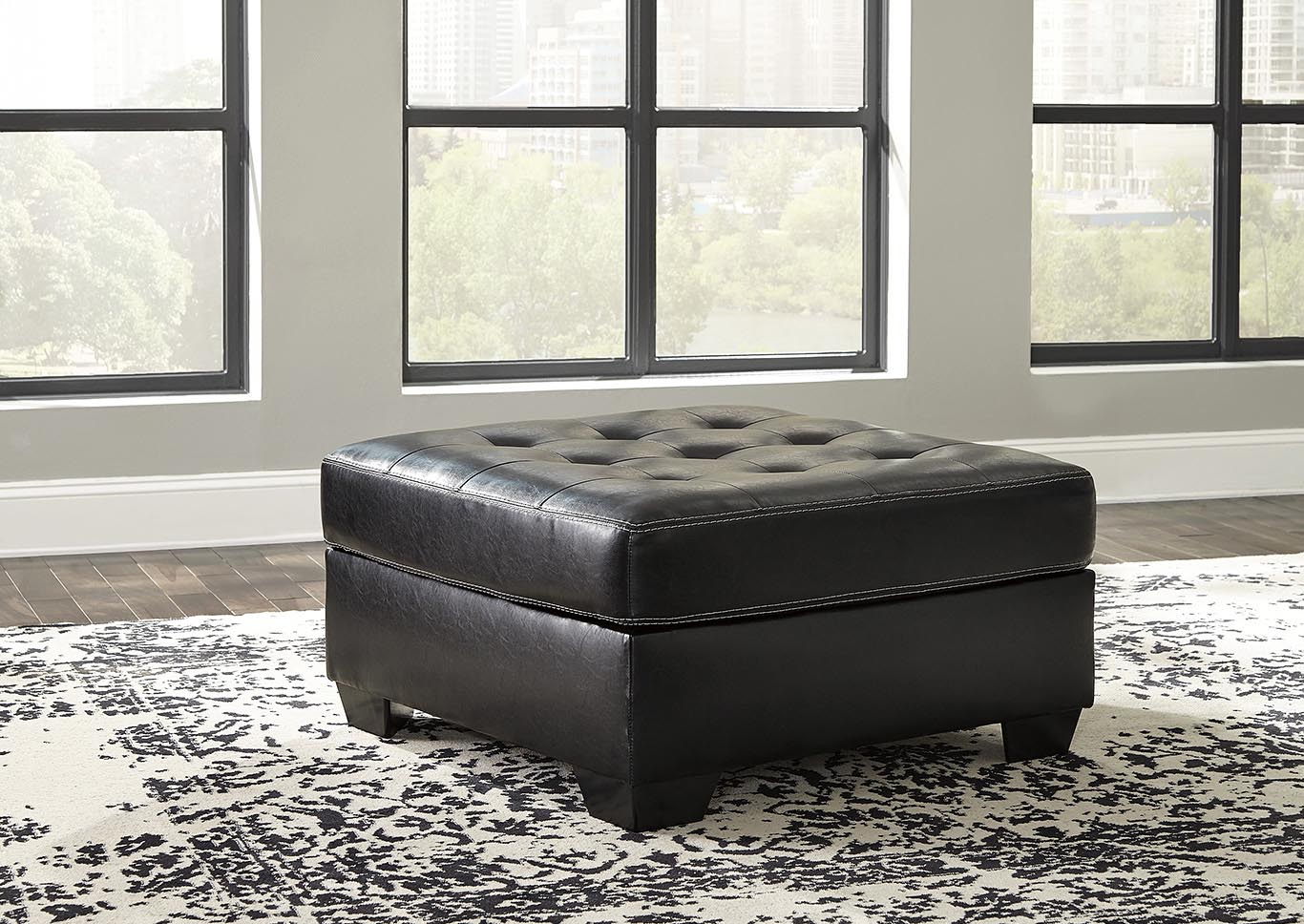 Jacurso Charcoal Oversized Accent Ottoman,Signature Design By Ashley