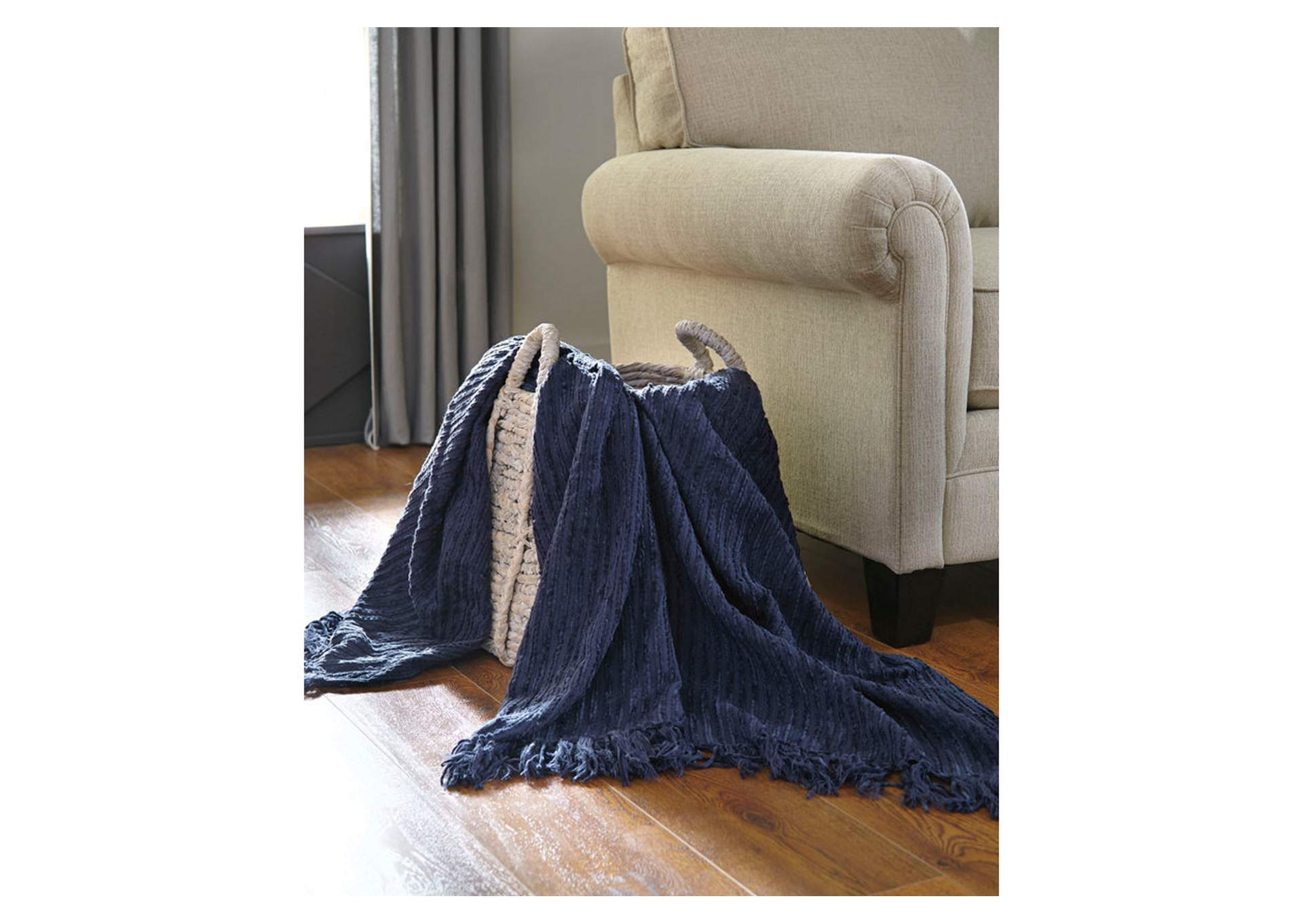 Noland Navy Throw,Signature Design By Ashley