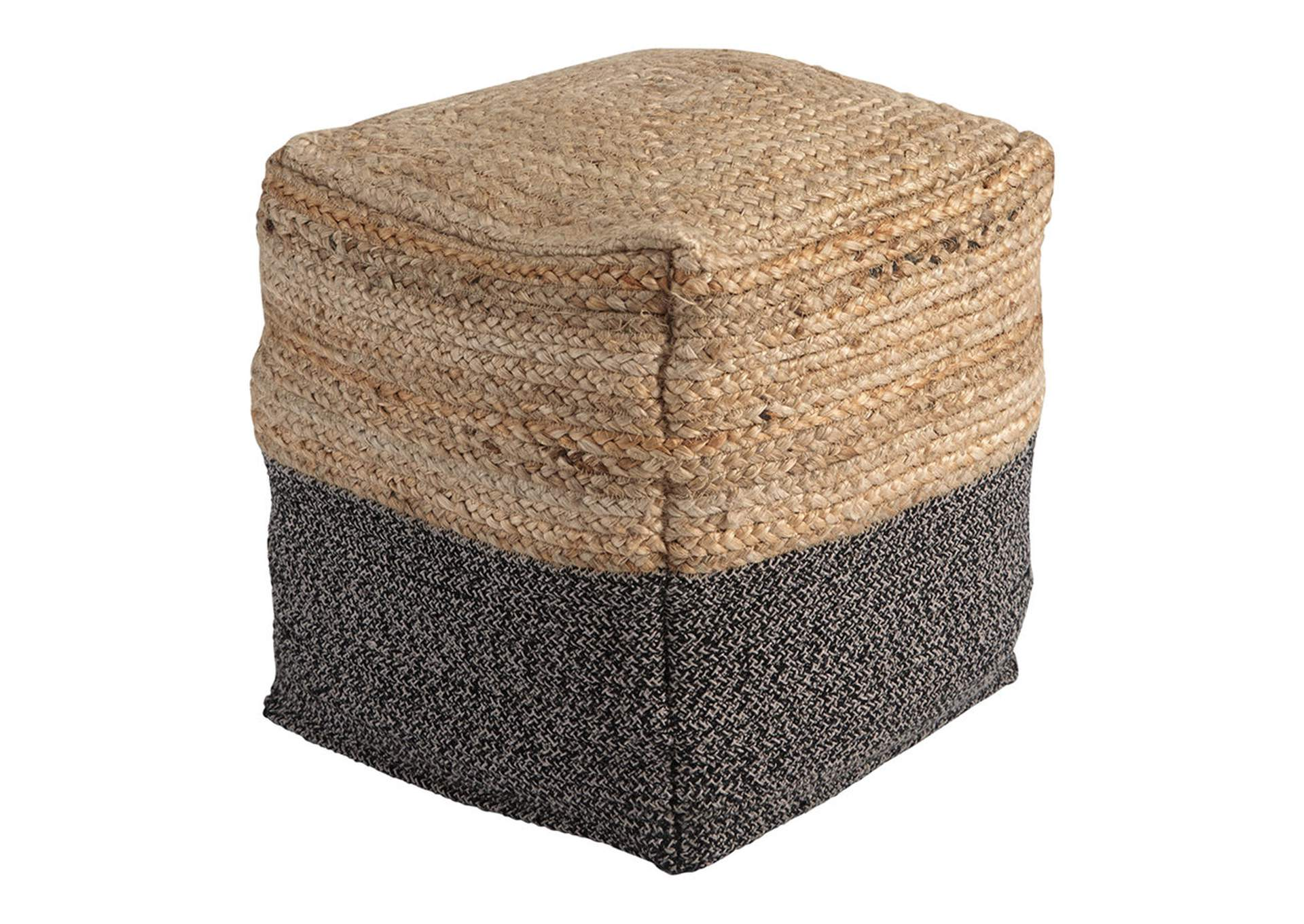 Sweed Valley Natural/Black Pouf,Direct To Consumer Express
