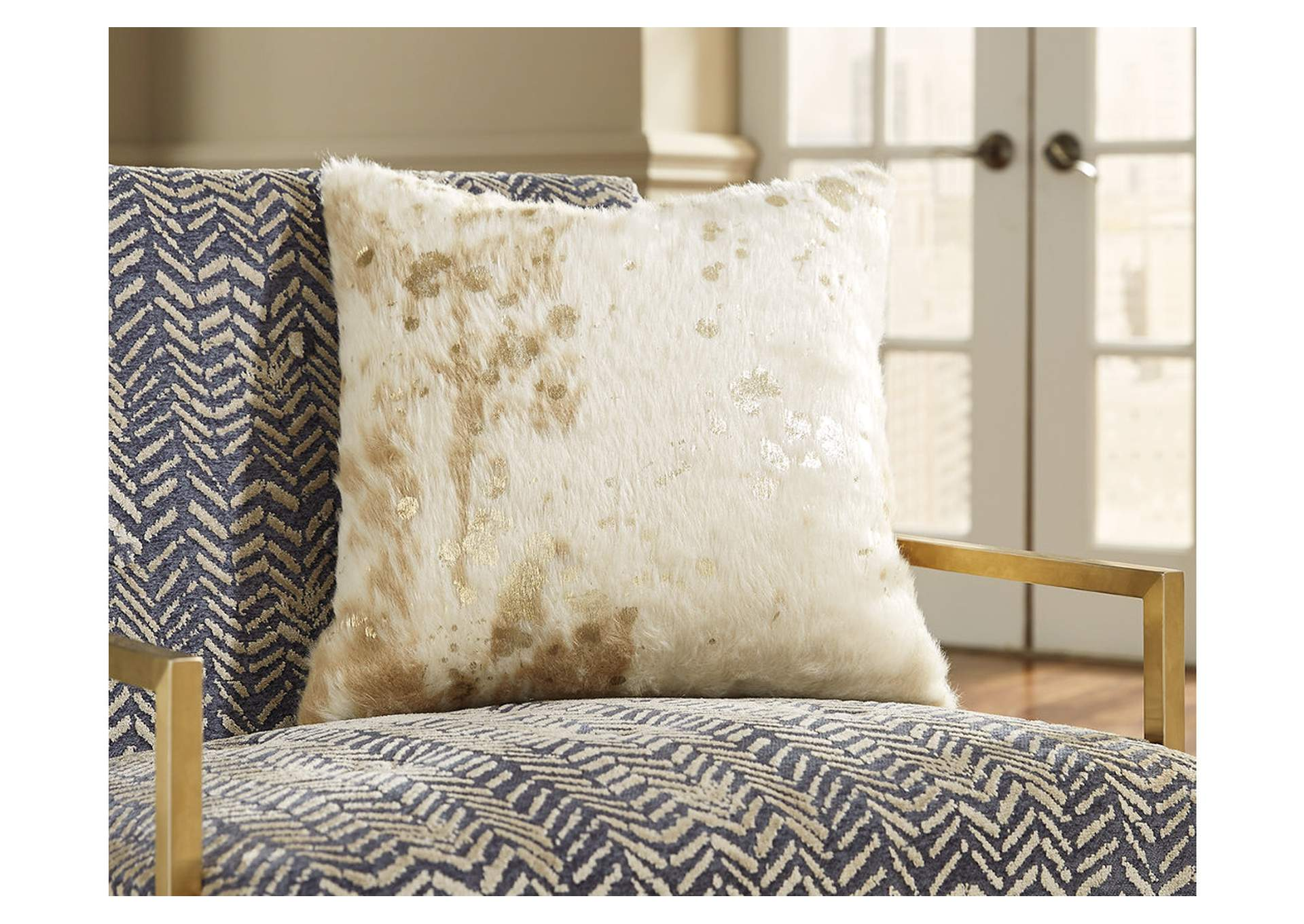 Landers Cream/Gold Pillow,Direct To Consumer Express