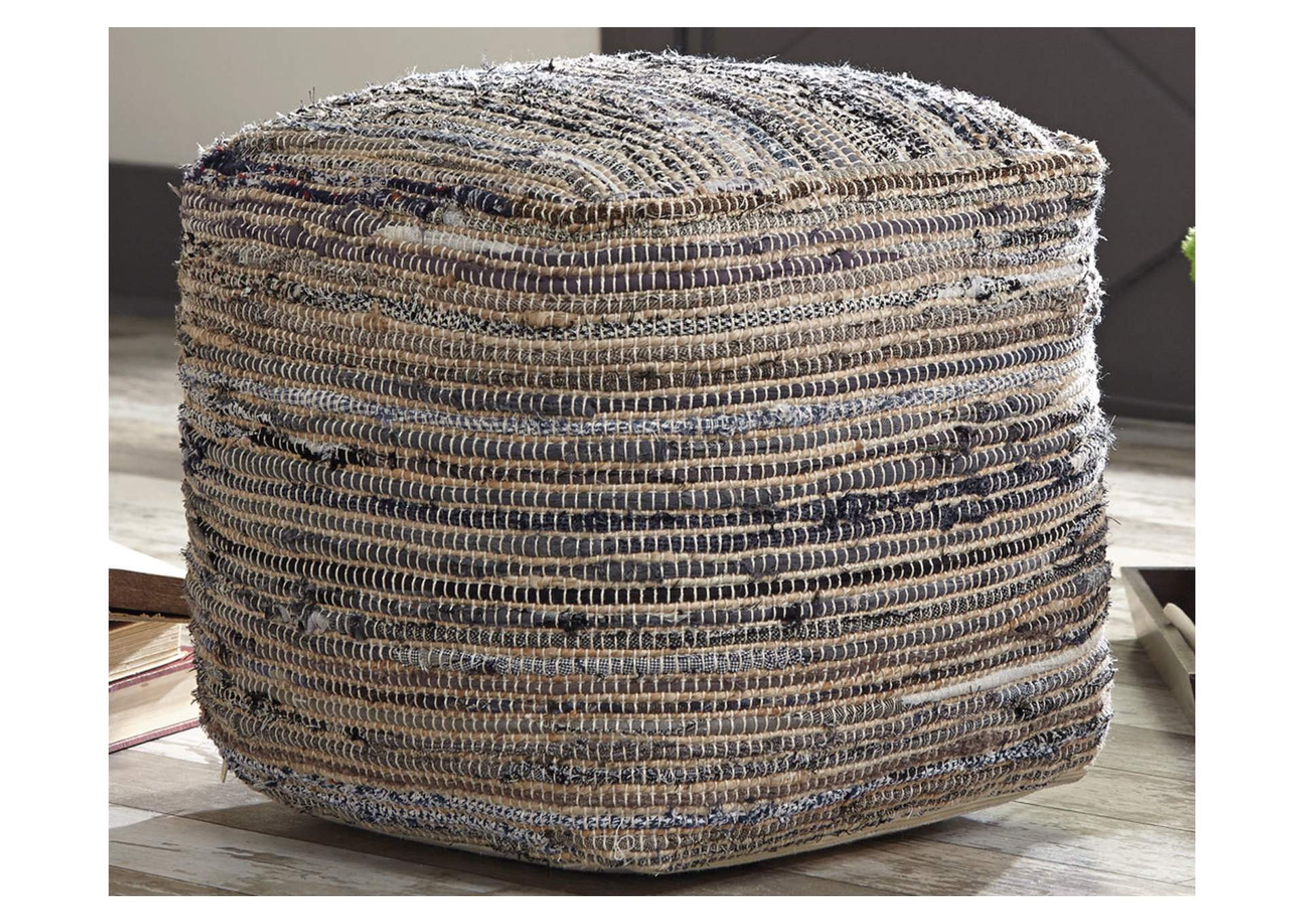 Absalom Natural Pouf,Signature Design By Ashley