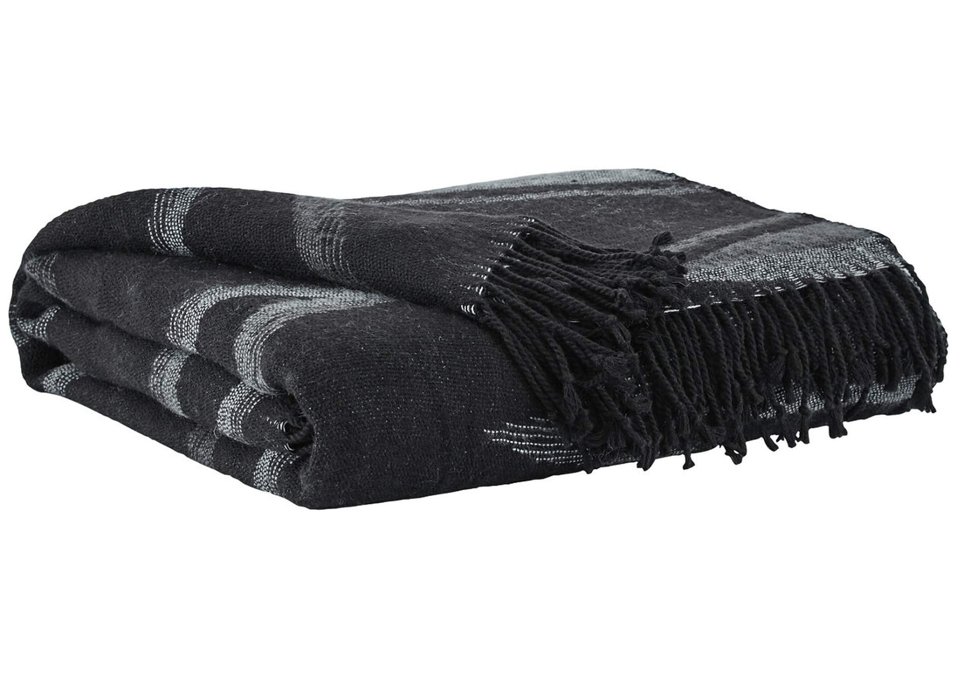 Cecile Black/Gray Throw,Direct To Consumer Express