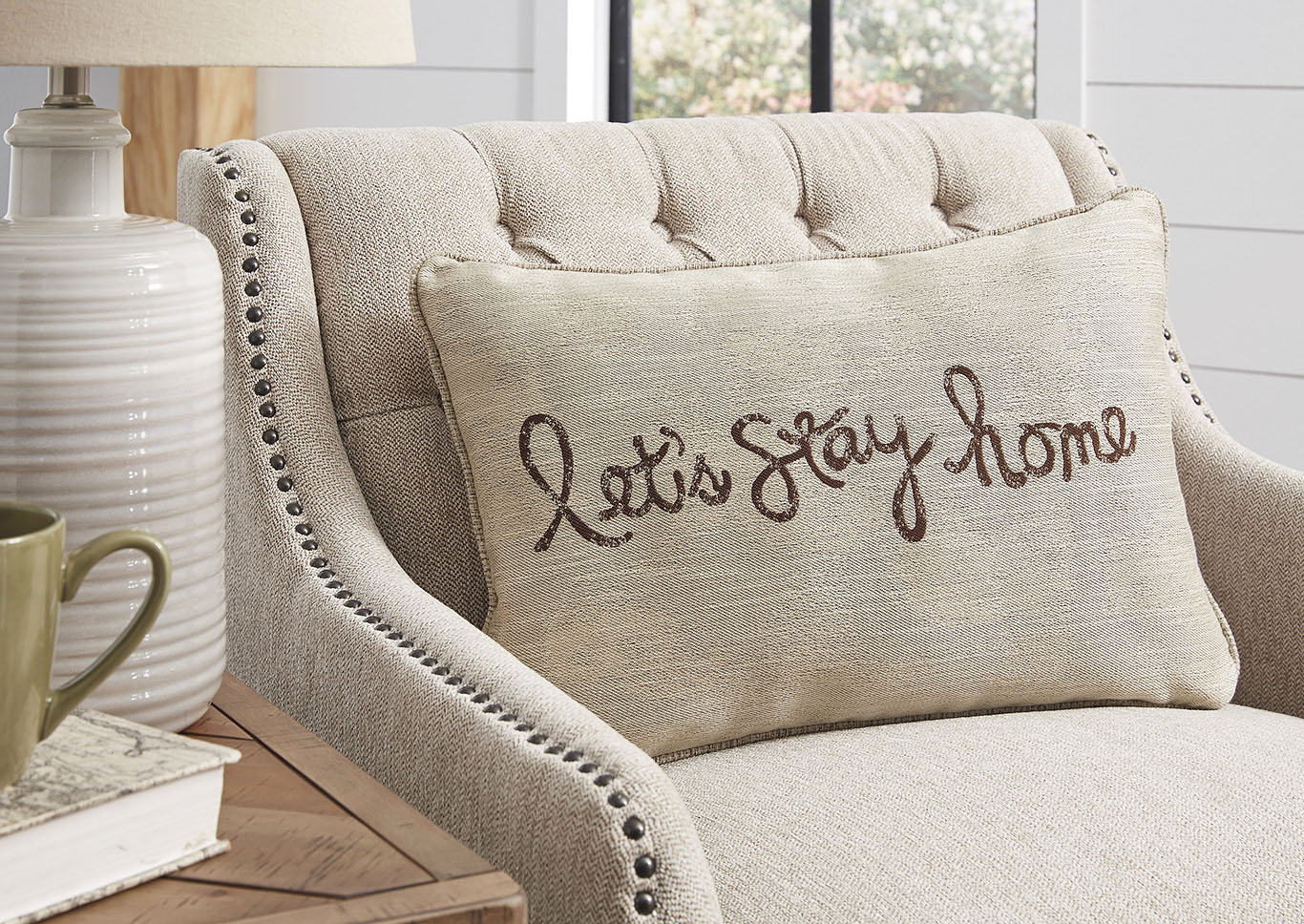 Lets Stay Home Pillow,Signature Design By Ashley