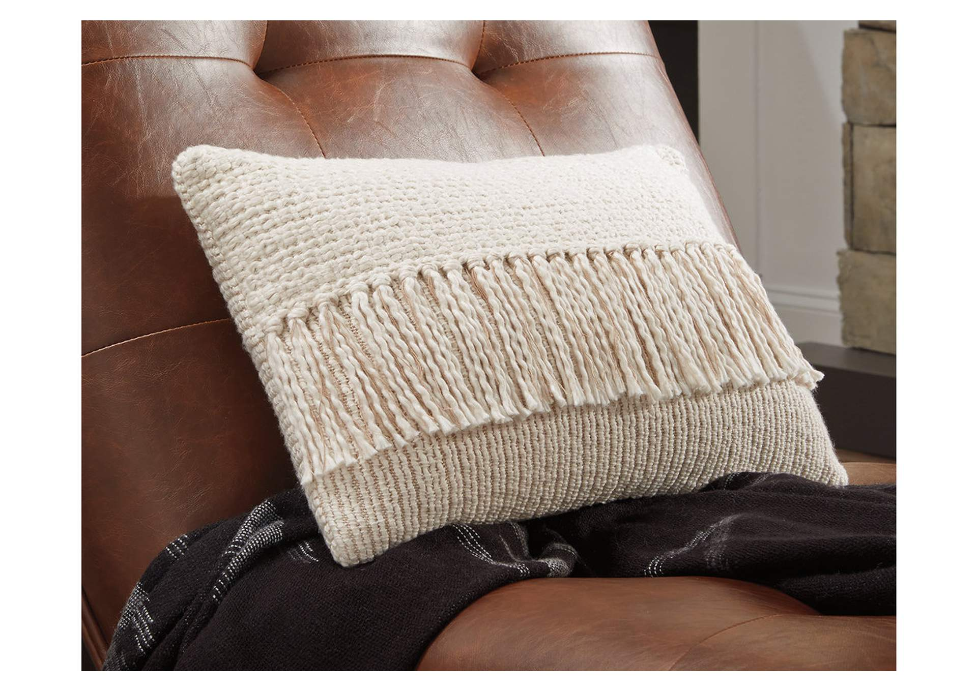 Medea Tan/Cream Pillow,Direct To Consumer Express