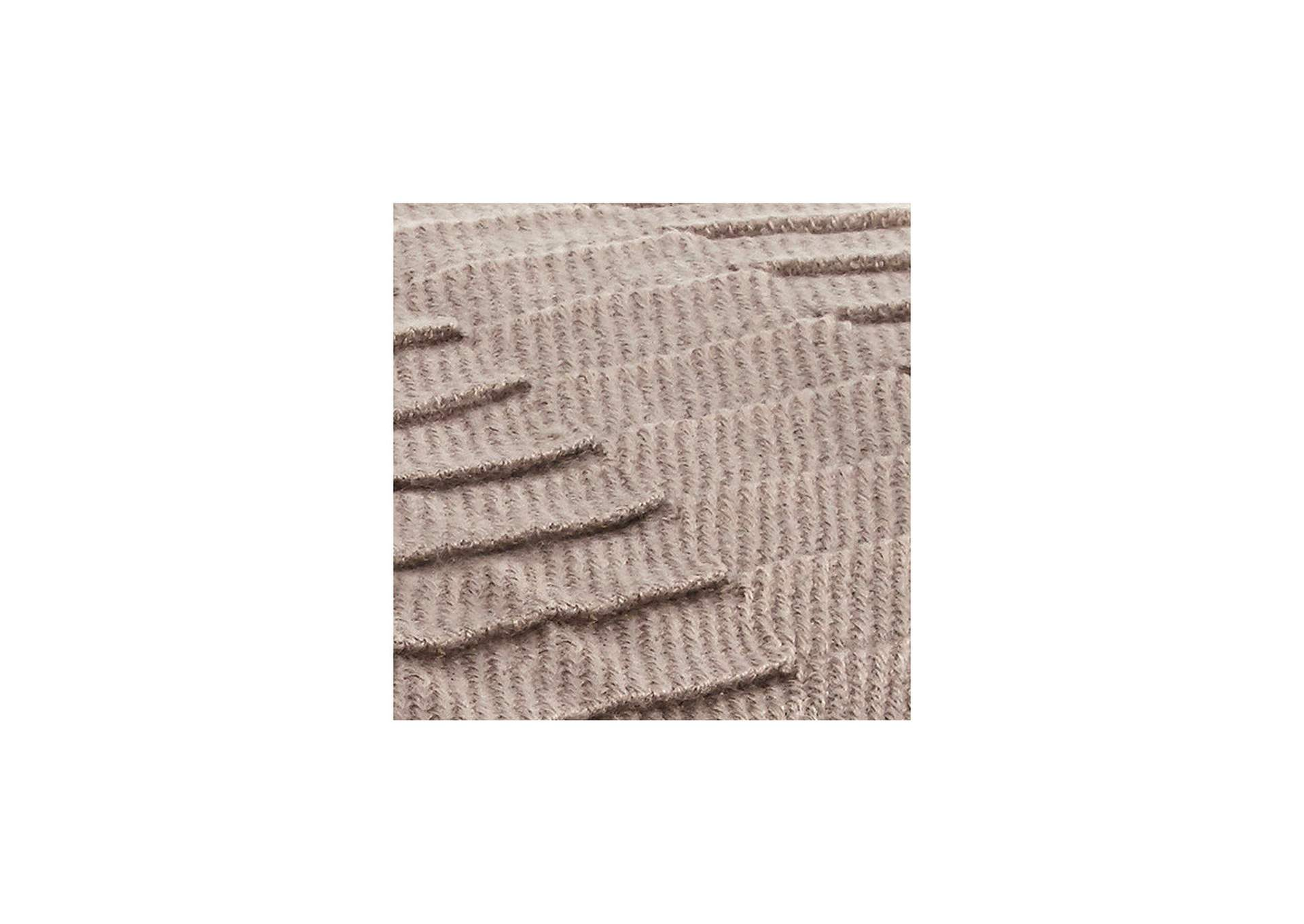 Mendez Taupe Throw (Set of 3),Direct To Consumer Express