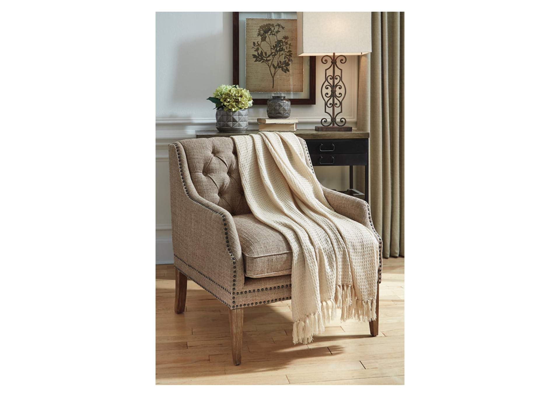 Rowena Beige Throw,Signature Design By Ashley