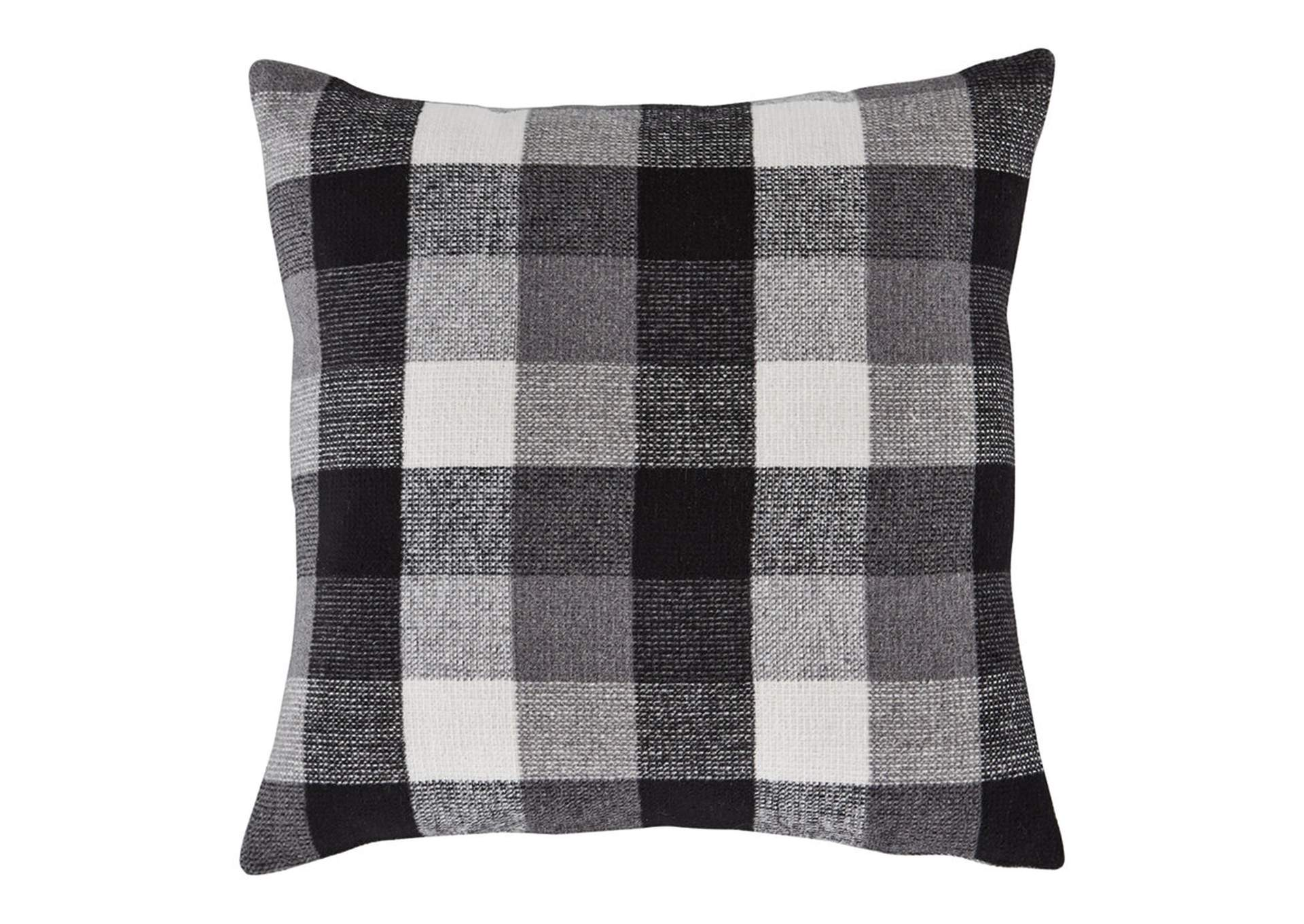 Carrigan Black/White 4 Piece Plaid Fabric Pillow Set,Signature Design By Ashley
