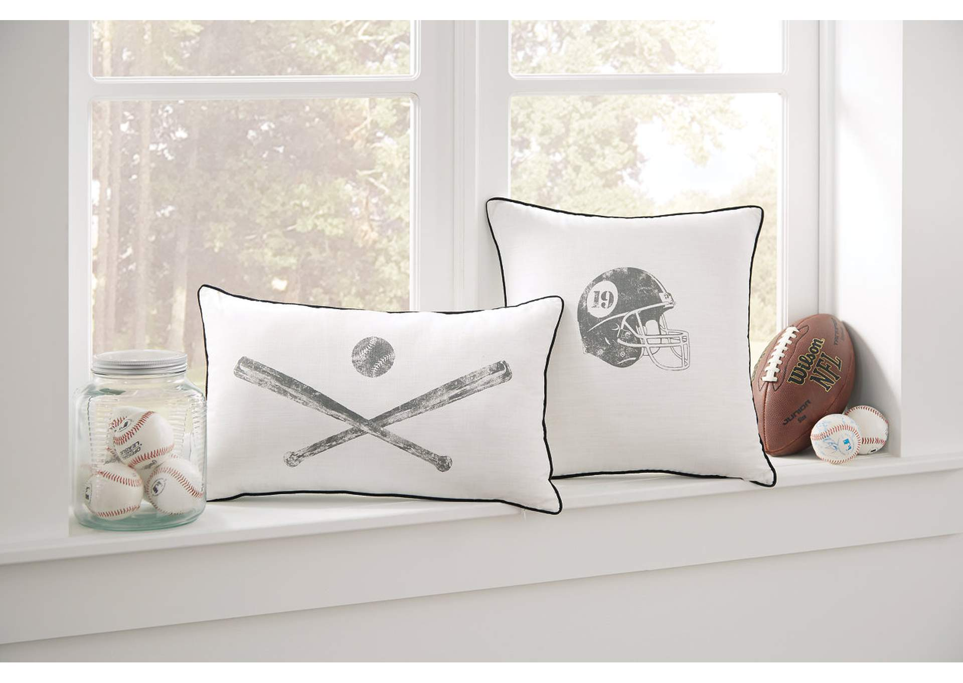 Waman Football Design 4 Piece Pillow Set,Direct To Consumer Express