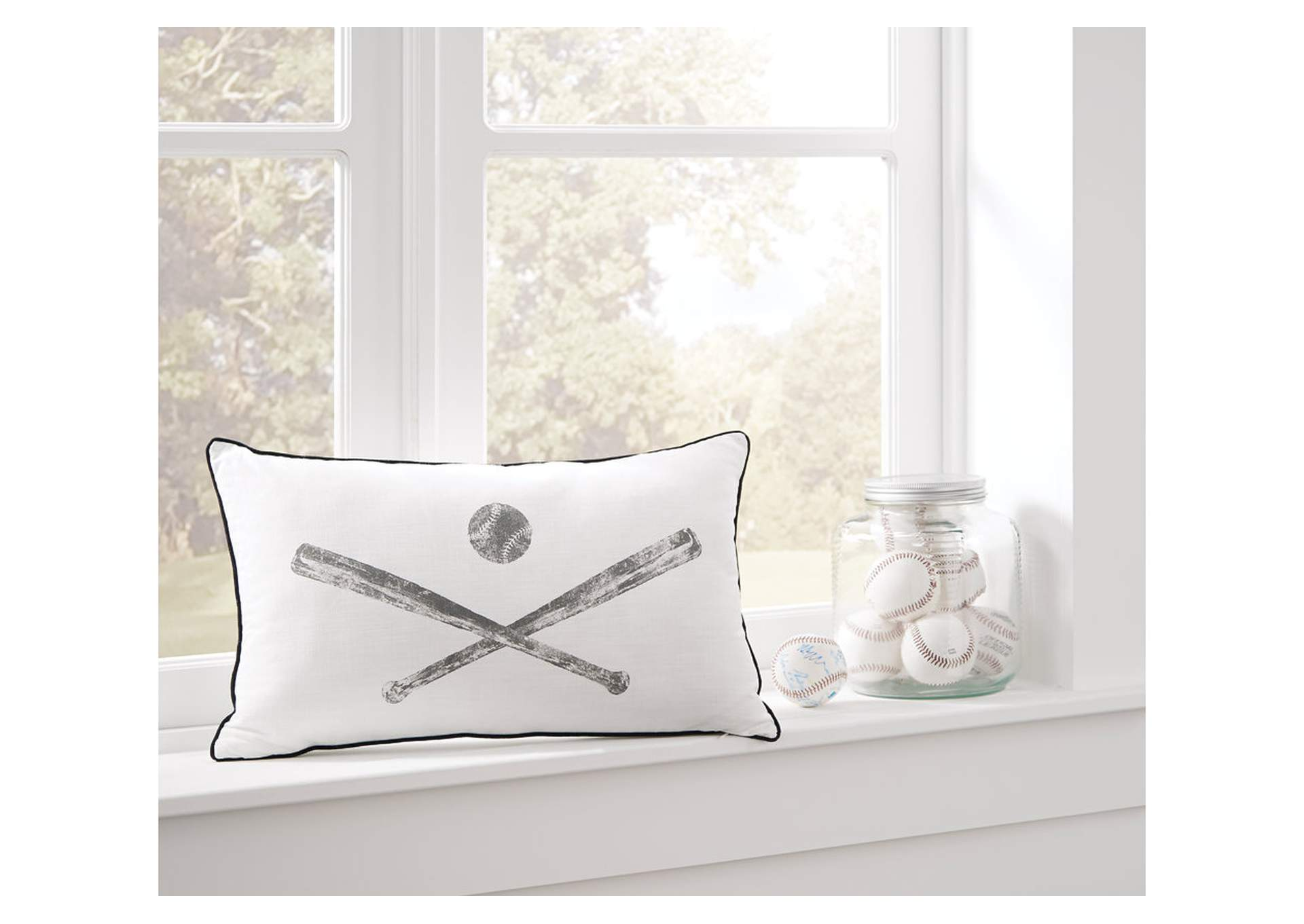 Waman Baseball Design Pillow,Signature Design By Ashley