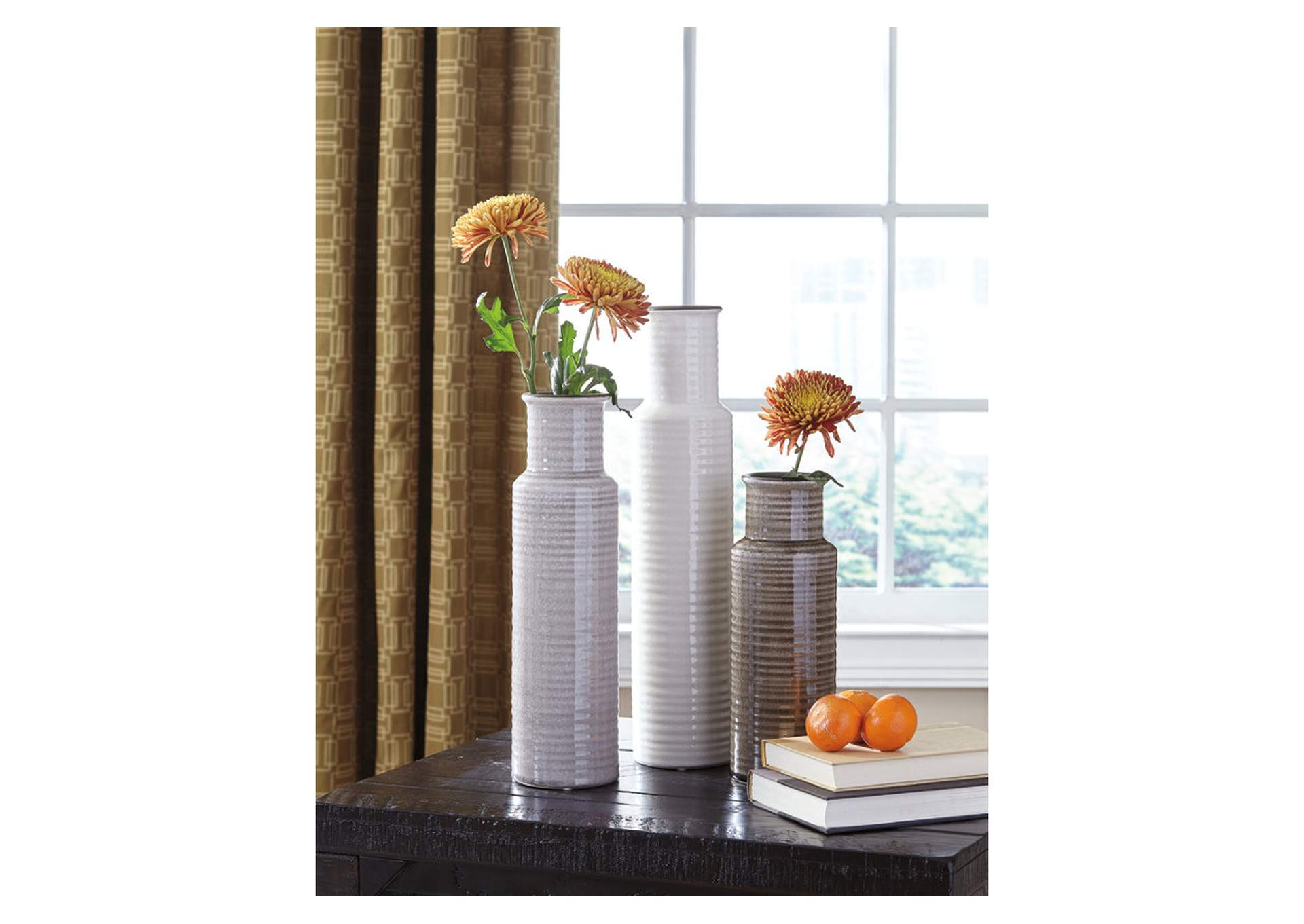 Deus Gray/White/Brown Vase Set (Set of 3),Direct To Consumer Express