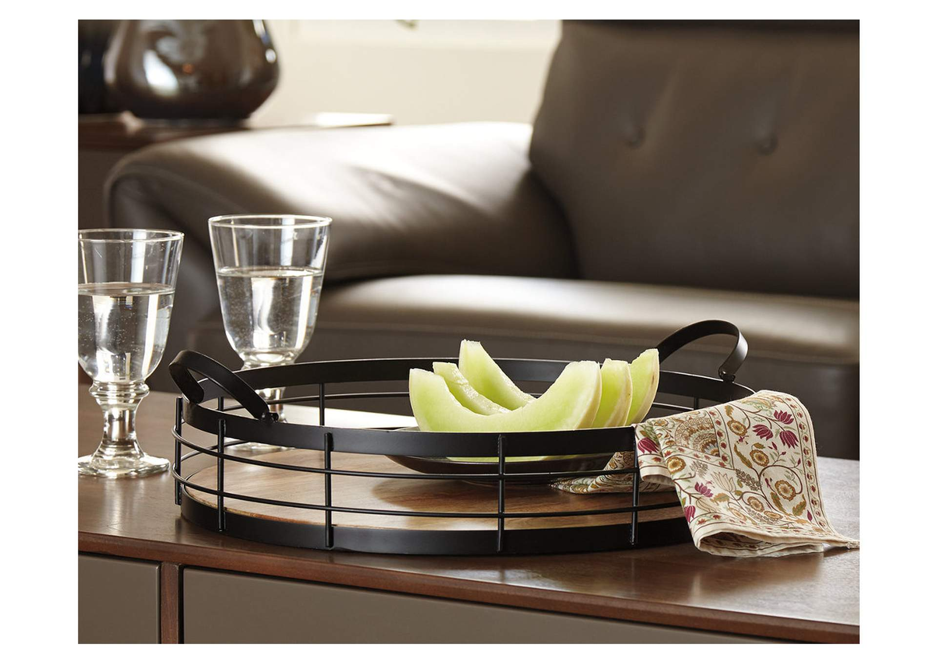 Diantha Black/Natural Tray,Signature Design By Ashley