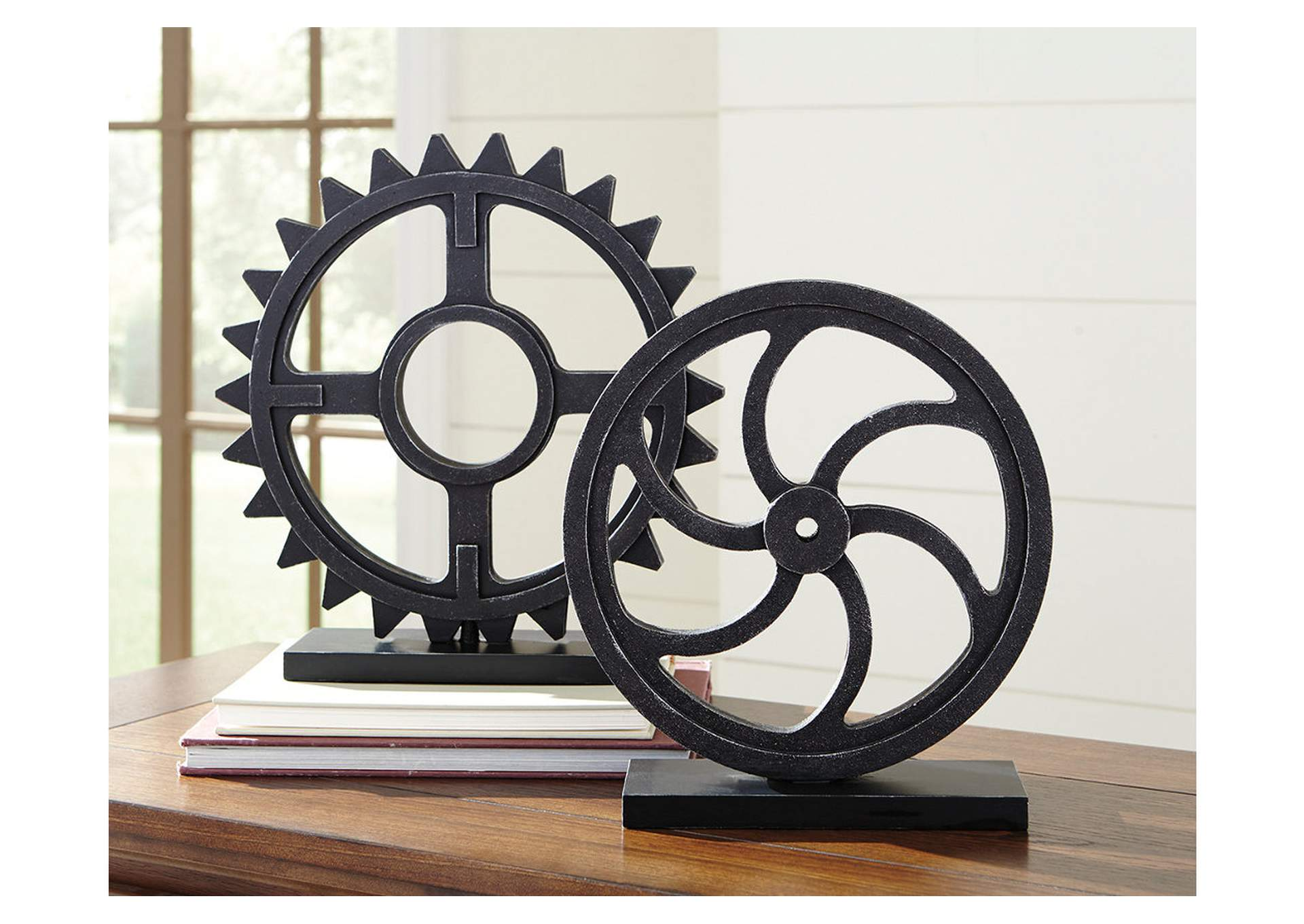 Dermot Antique Black Sculpture Set (Set of 2),Direct To Consumer Express