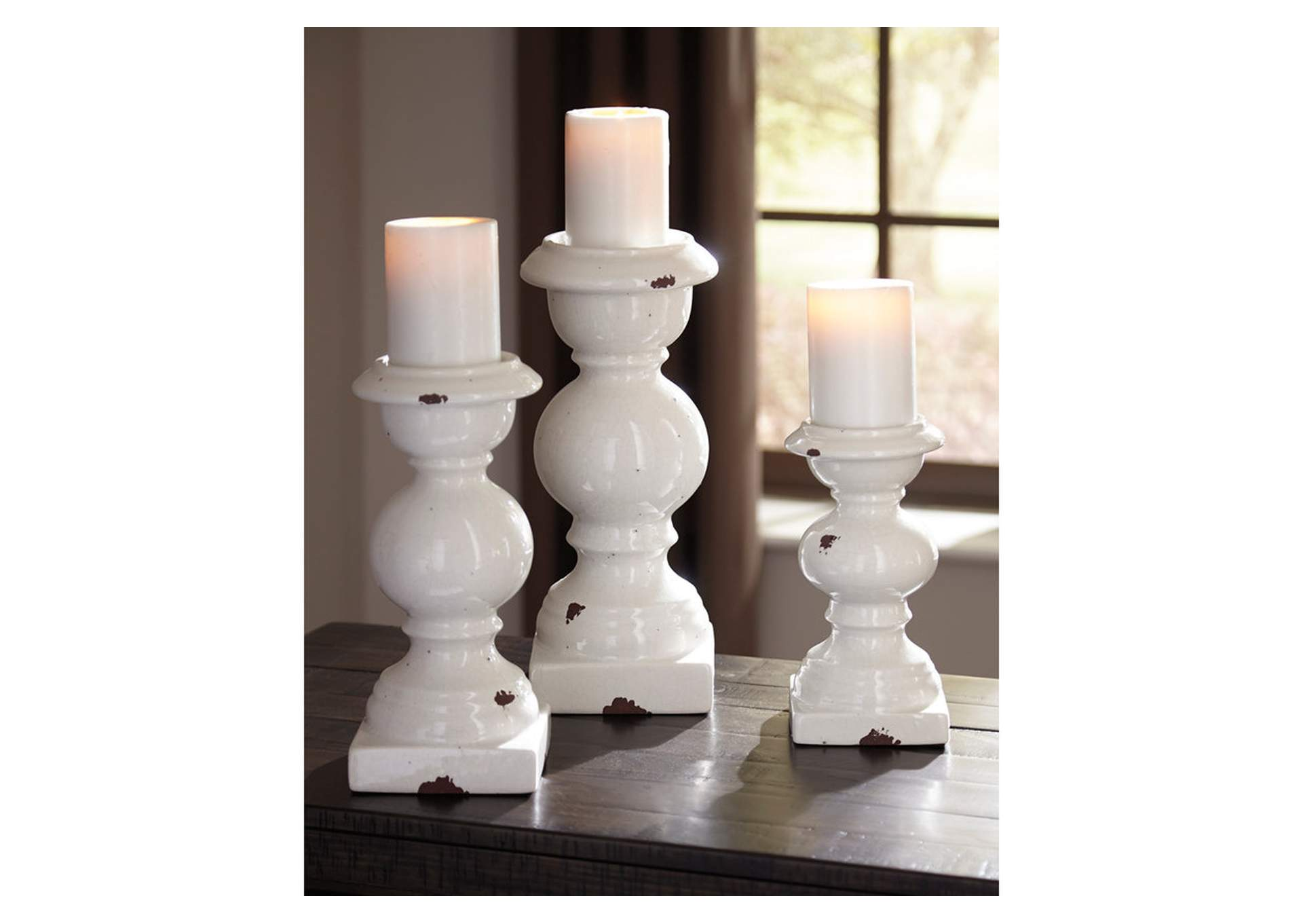 Devorah Antique White Candle Holder Set,Direct To Consumer Express