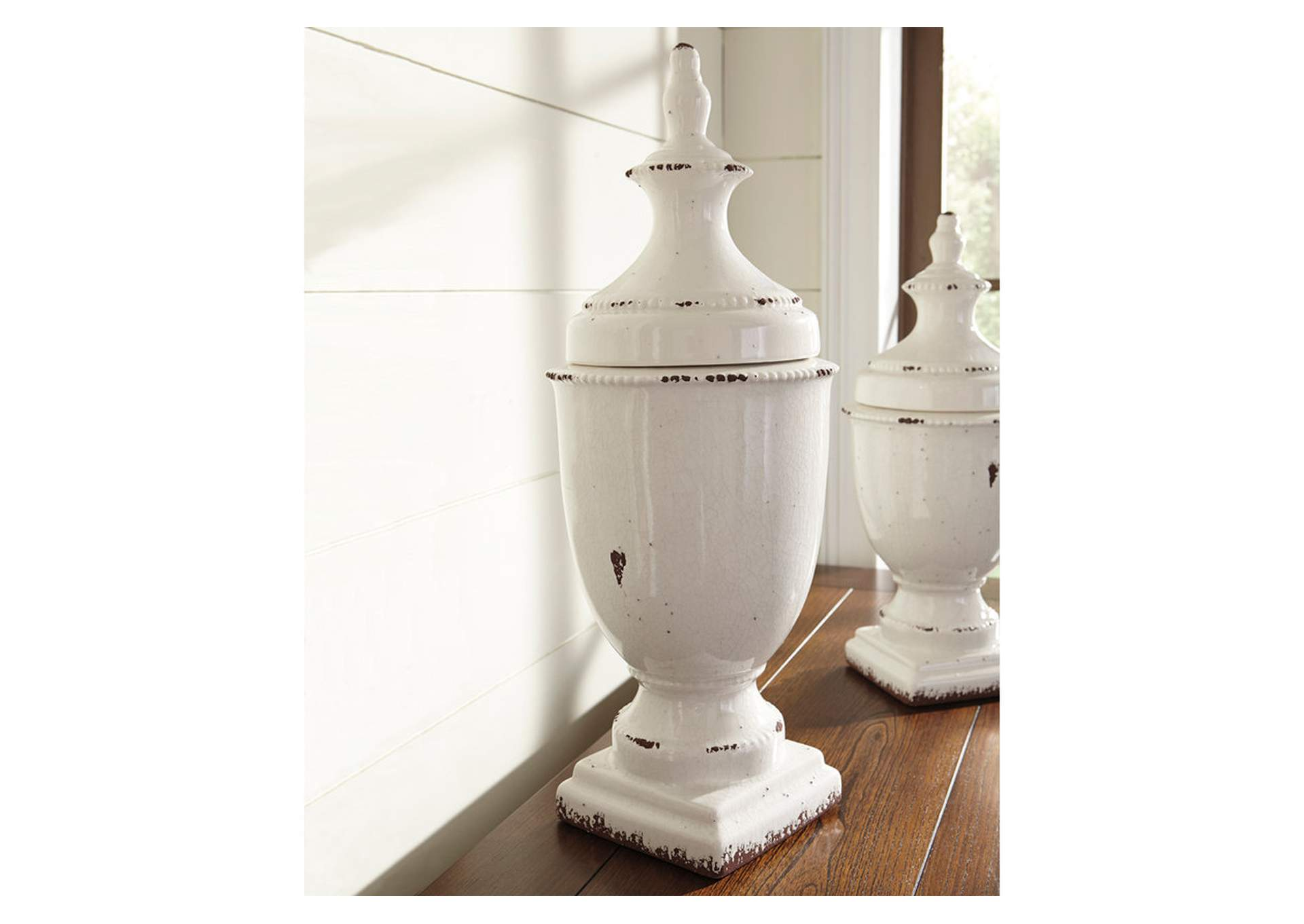 Devorit Antique White Jar,Direct To Consumer Express