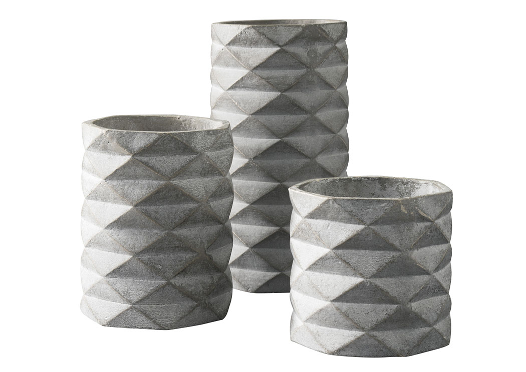 Charlot Gray Vase (Set of 3),Direct To Consumer Express
