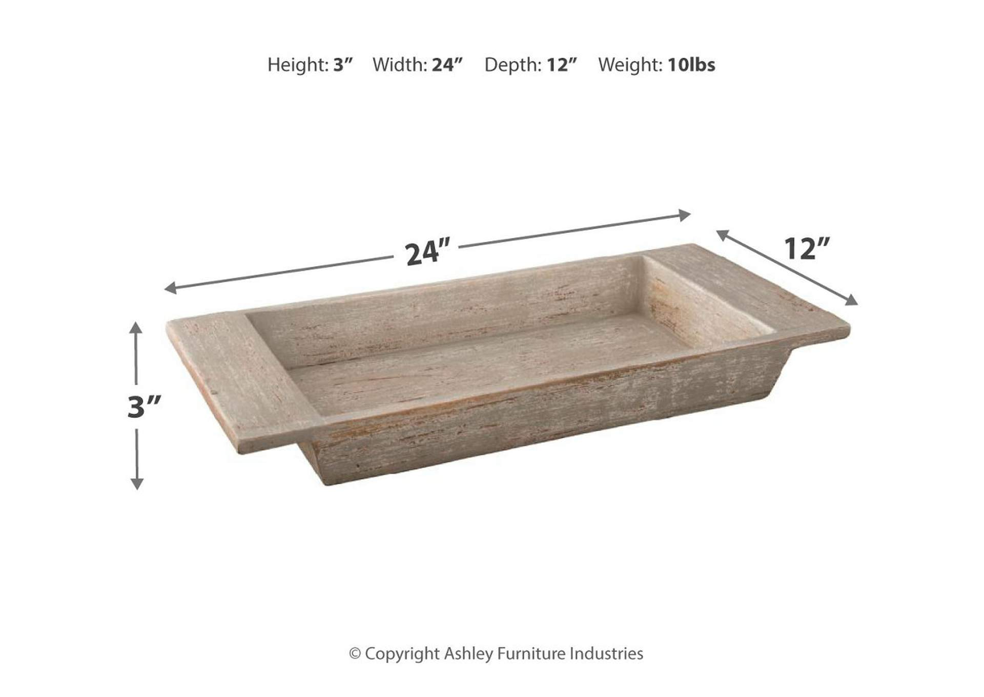 Michaiah White Tray,Signature Design By Ashley