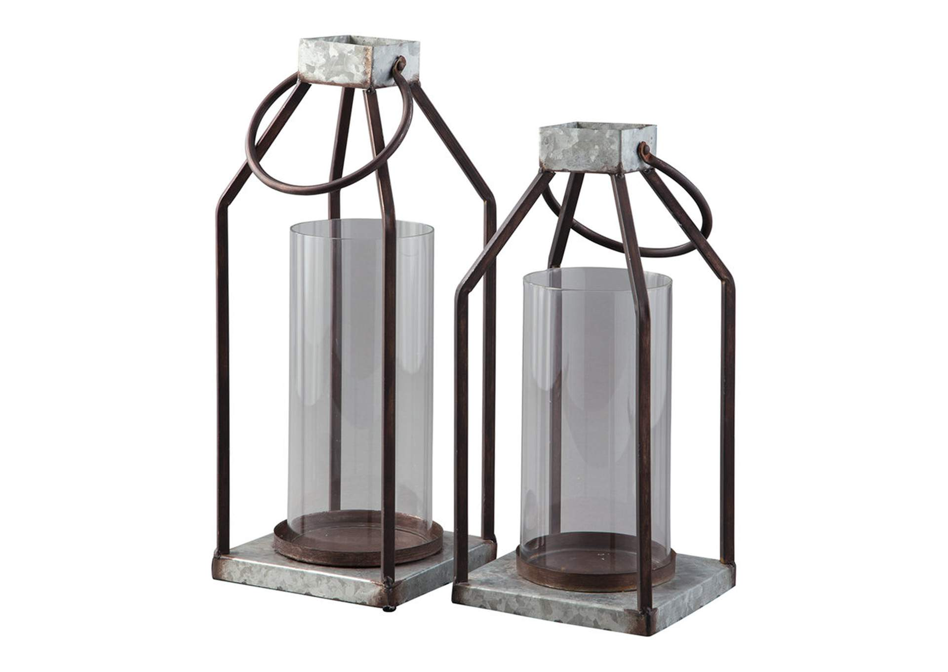 Diedrick Gray/Black Lantern Set (Set of 2),Signature Design By Ashley