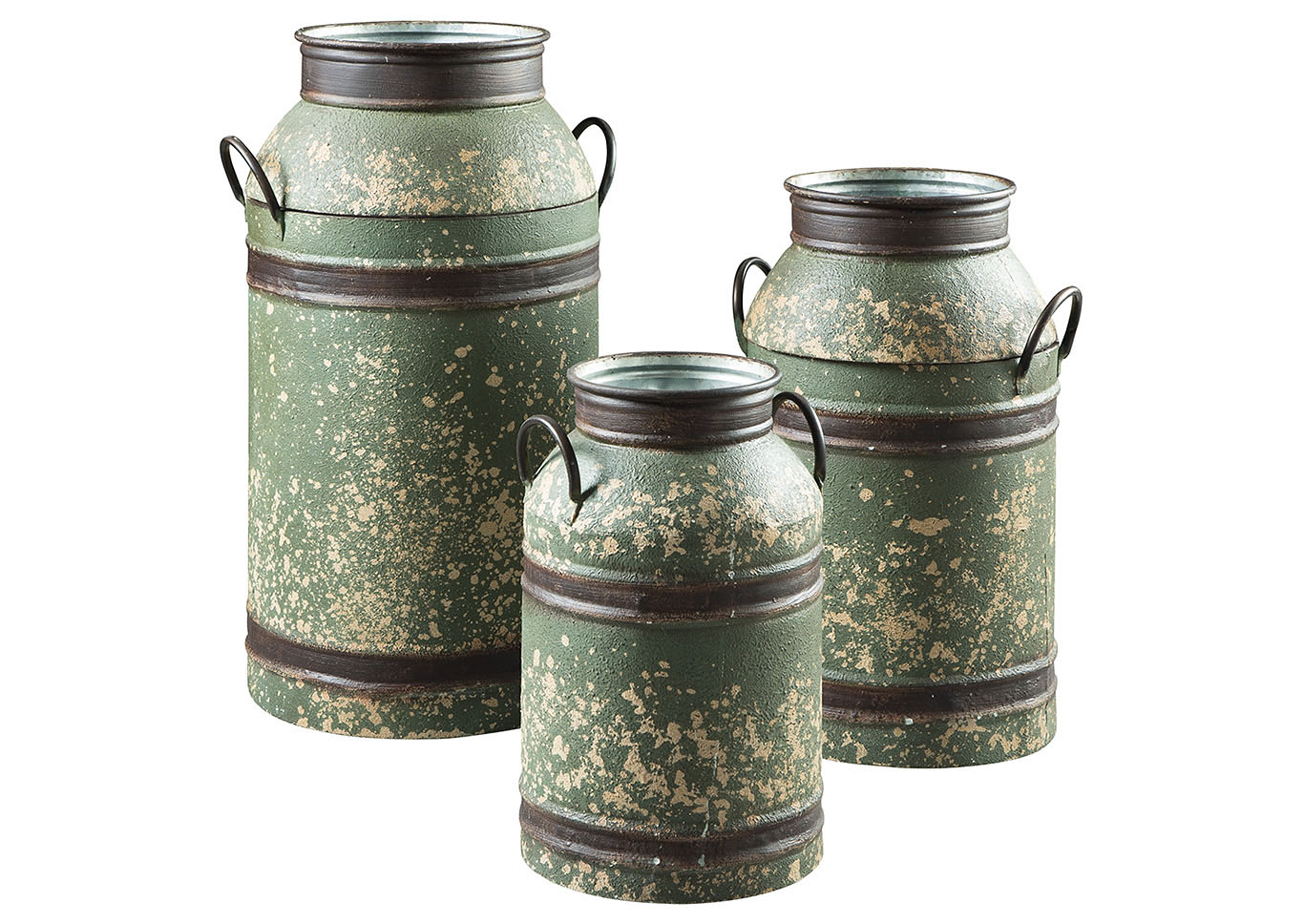 Elk Antique Brown 3 Piece Milk Can Set,Direct To Consumer Express