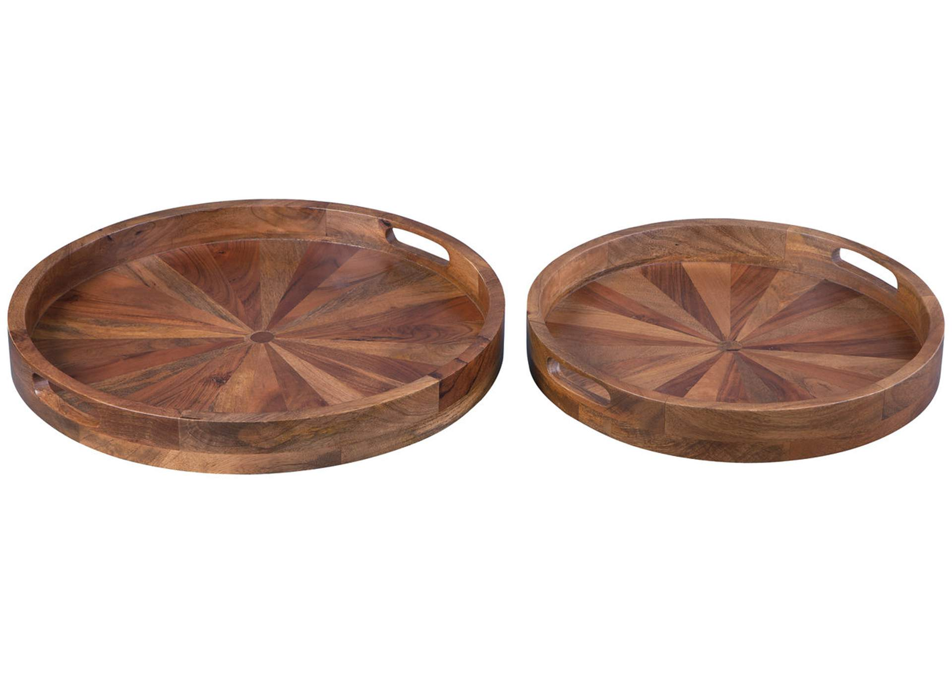 LUCIO Natural Tray (Set of 2),Signature Design By Ashley
