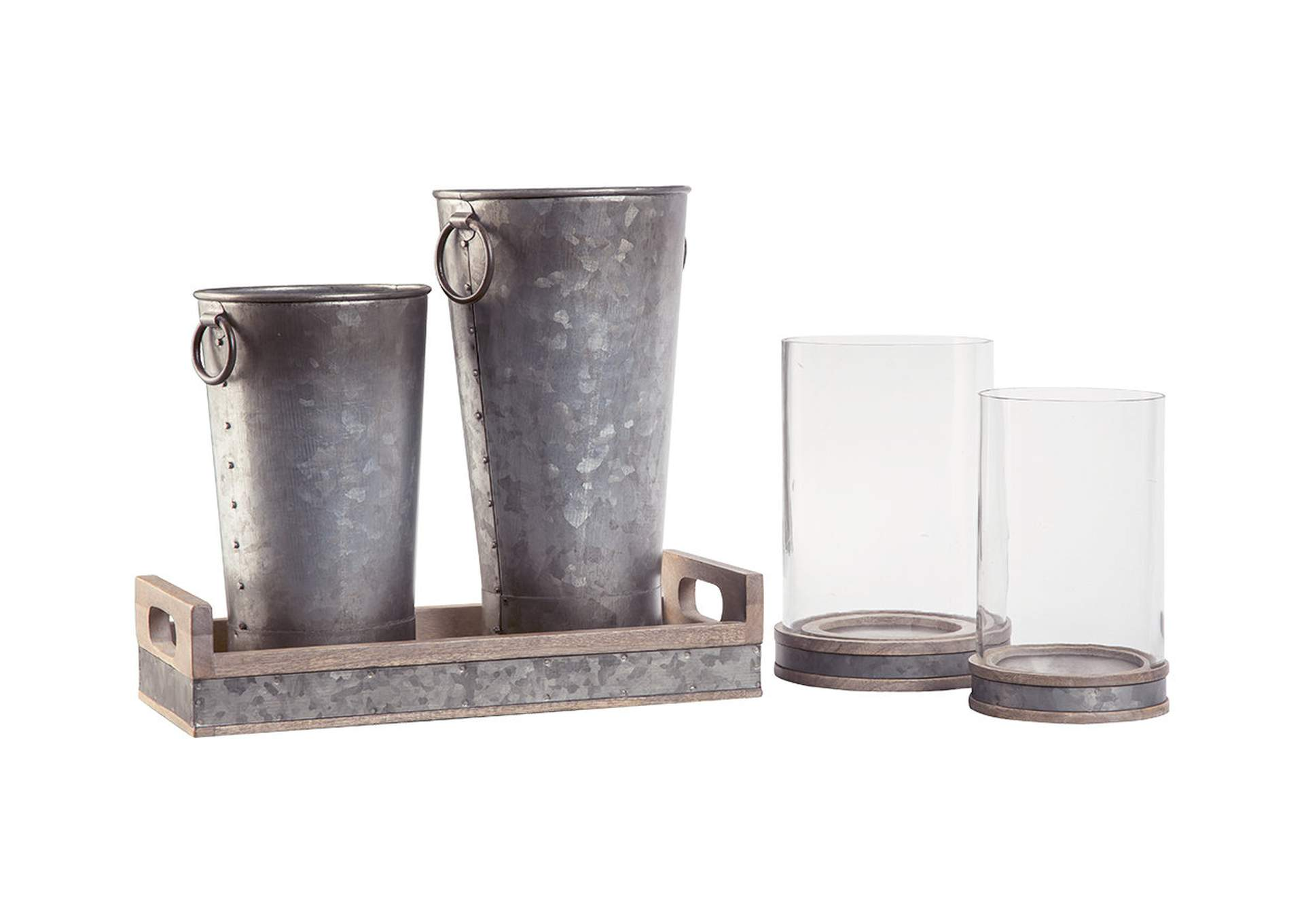 Donae Natural/Gray 5 Piece Accessory Set,Signature Design By Ashley