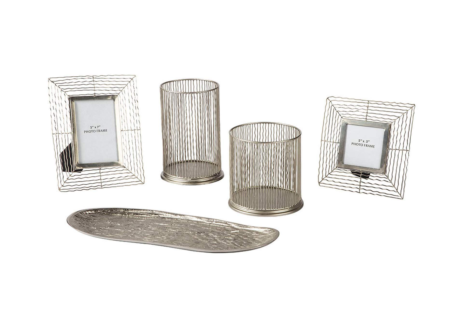 Dympna Silver Accessory Set,Direct To Consumer Express