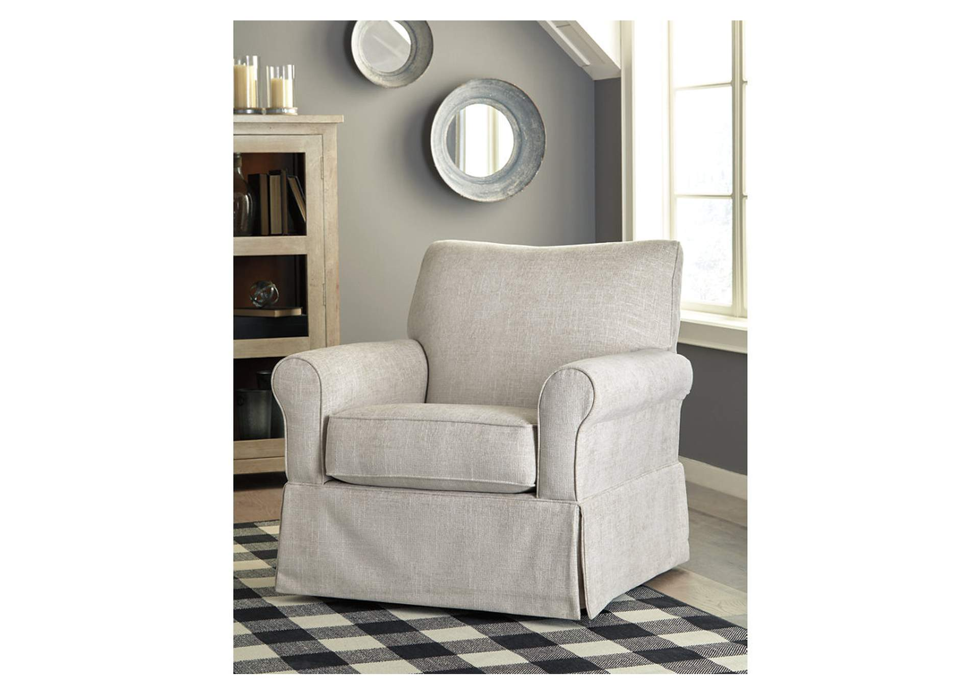 Searcy Quartz Swivel Glider Accent Chair,Signature Design By Ashley