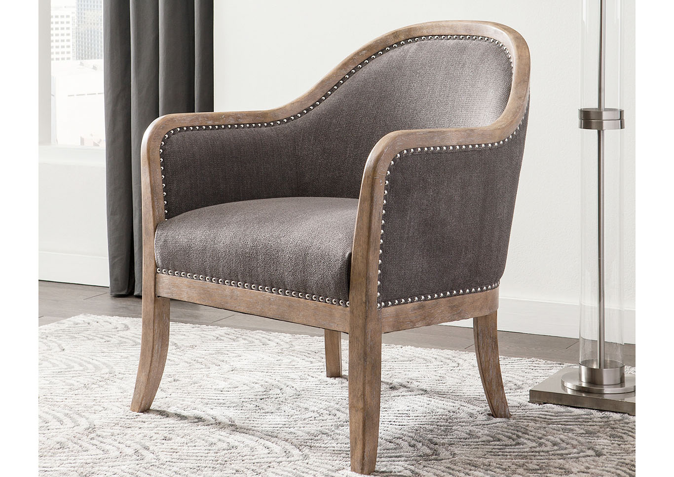Engineer Brown Accent Chair,Direct To Consumer Express