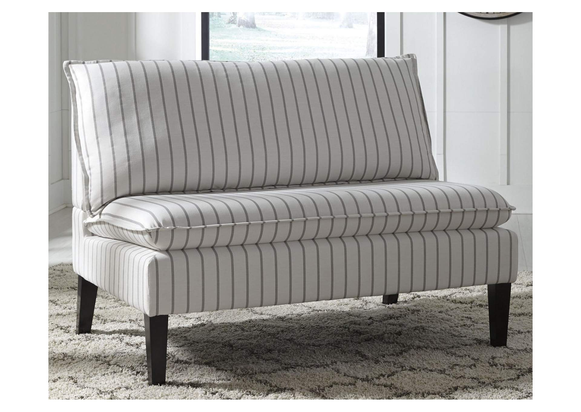 Arrowrock White/Gray Accent Bench,Direct To Consumer Express