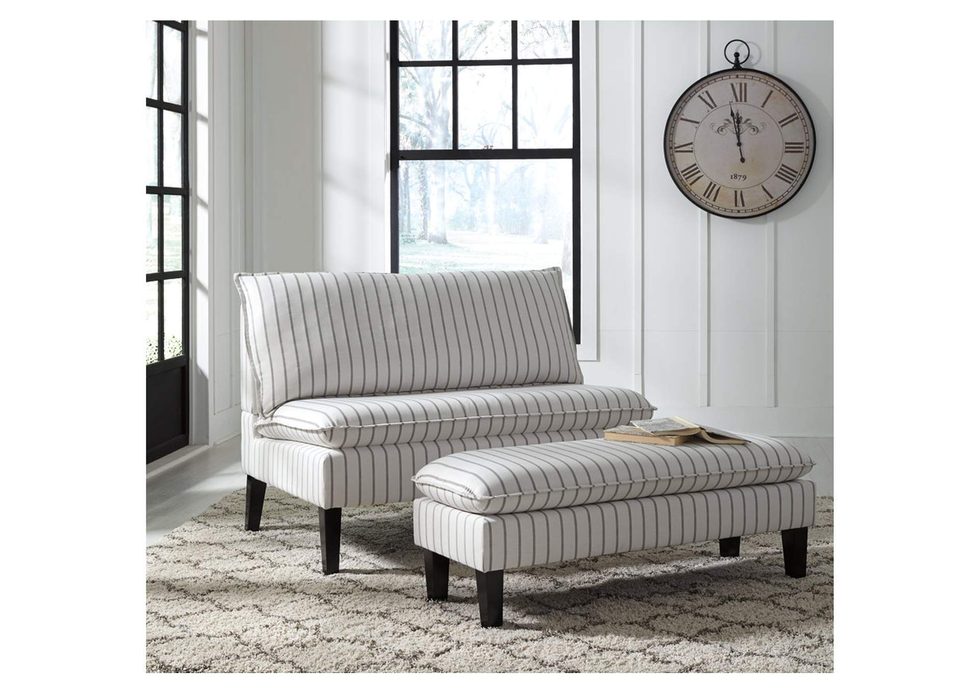 Arrowrock White/Gray Accent Bench,Signature Design By Ashley