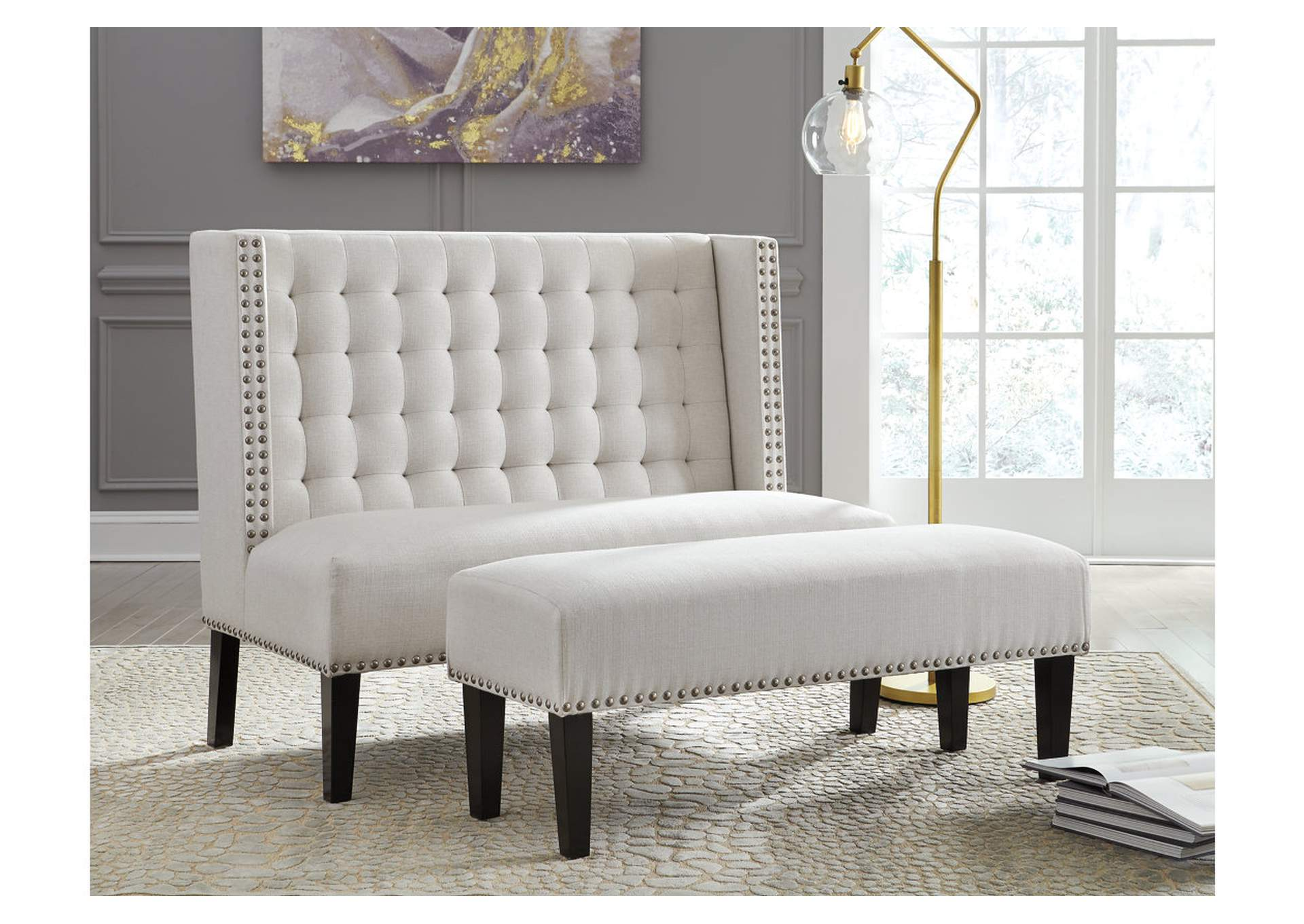Beauland Ivory Accent Bench,Signature Design By Ashley