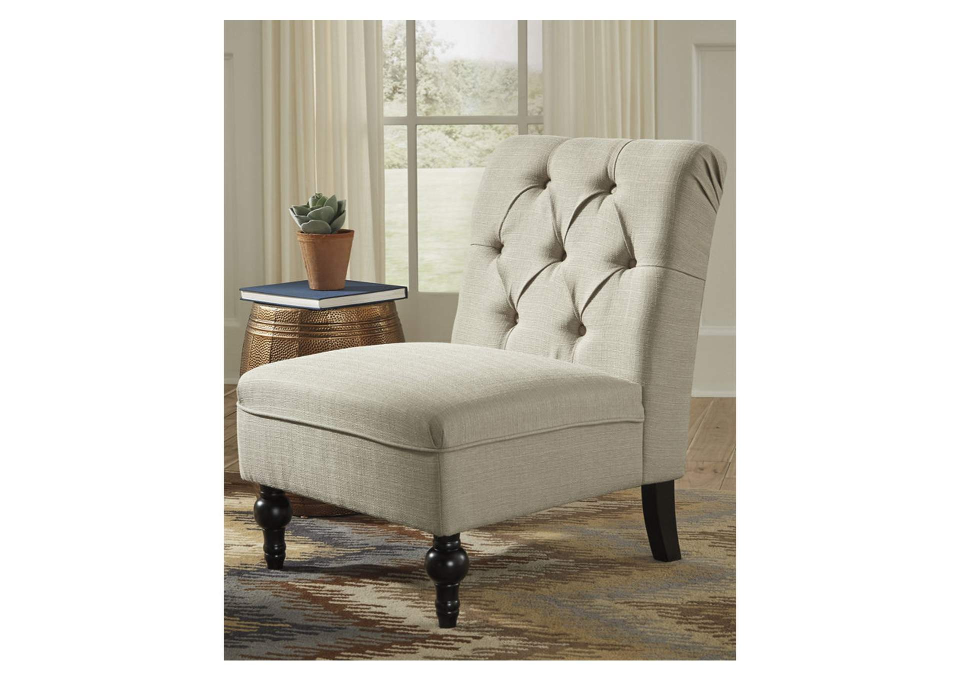 Degas Oatmeal Accent Fabric Chair,Signature Design By Ashley